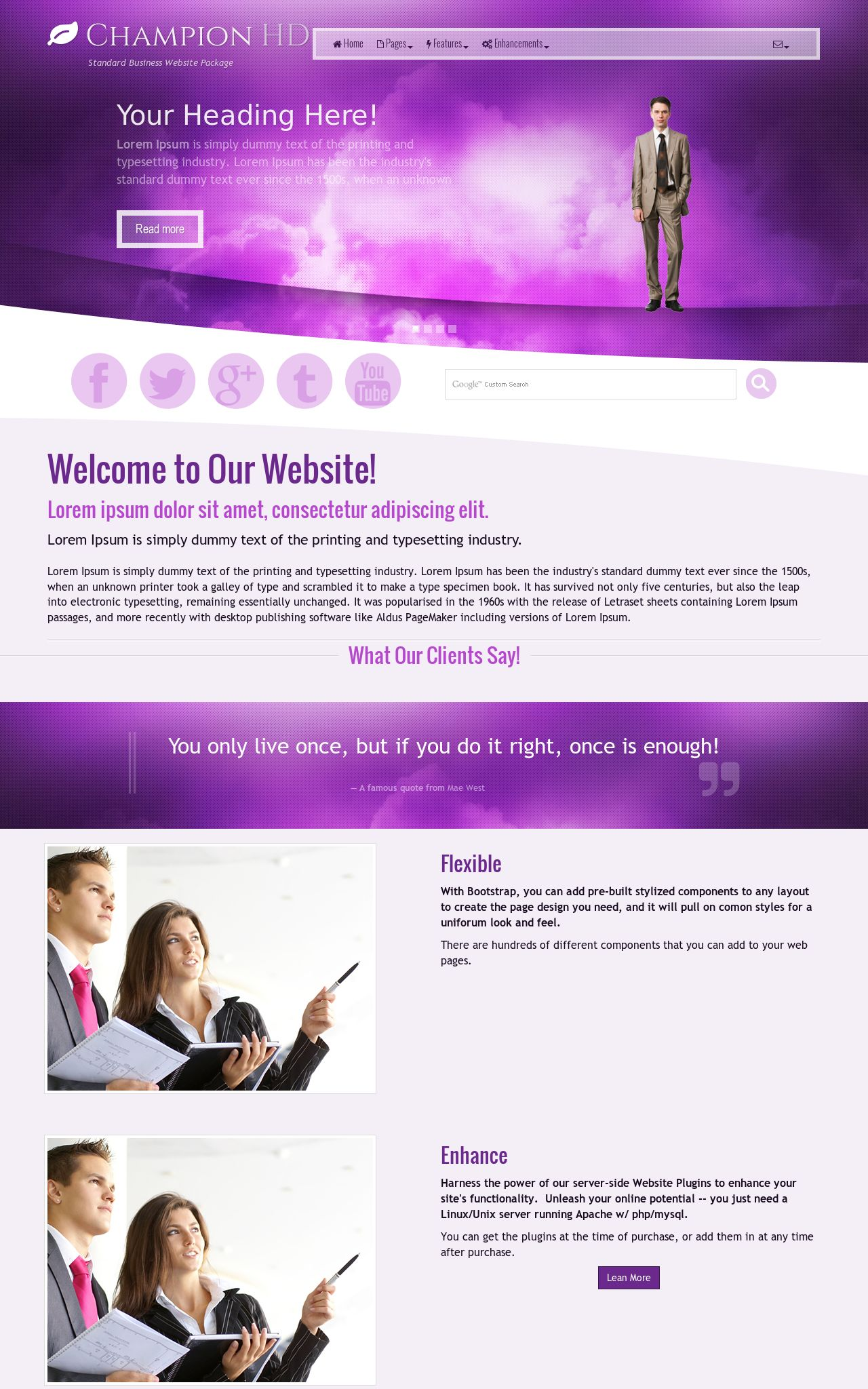 Tablet: Business Web Template