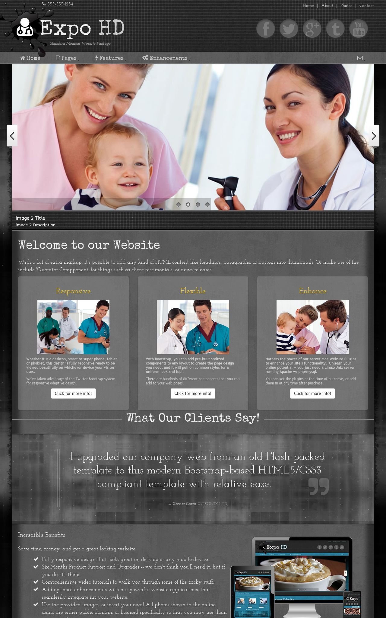 Tablet: Medical Wordpress Theme