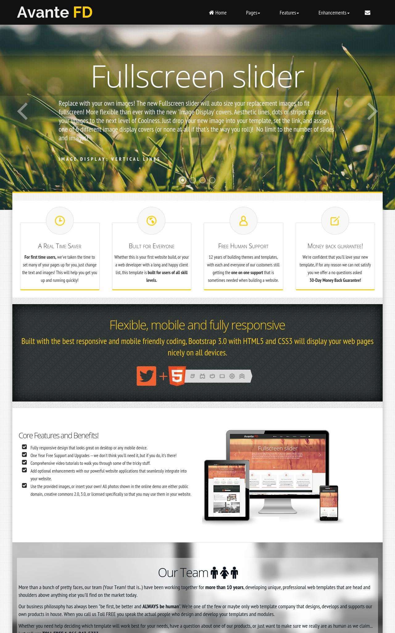 Desktop: Landscaping Wordpress Theme