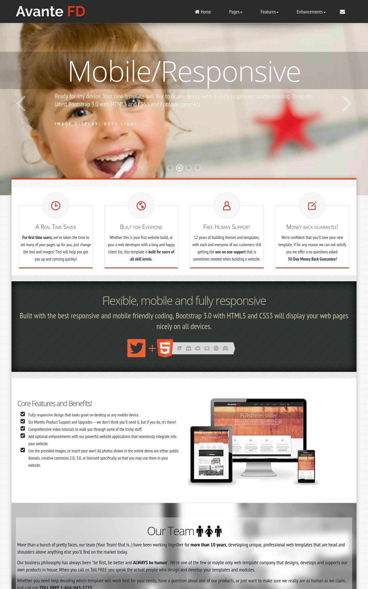 Avante Fd Dental Black Red Dental Web Template