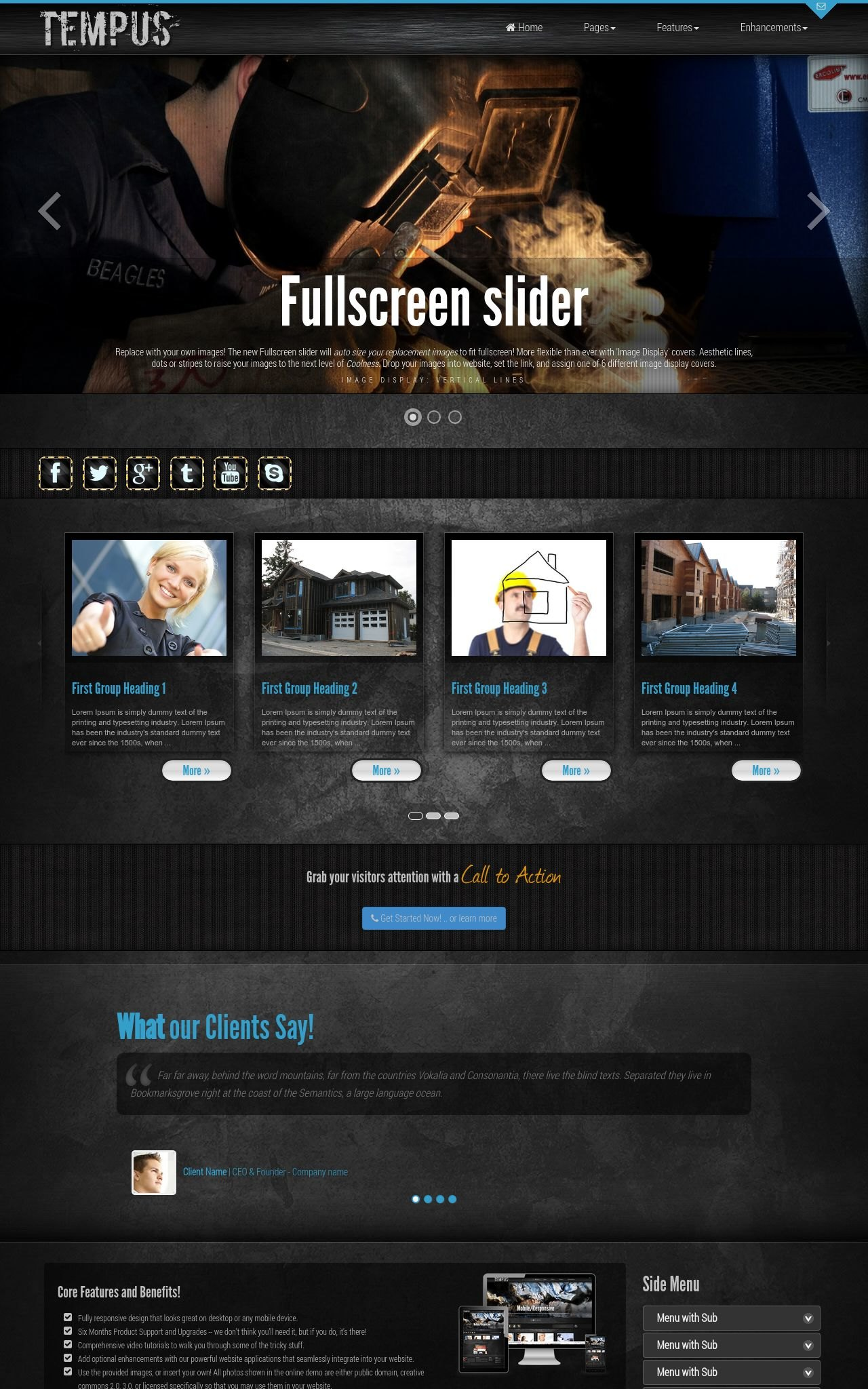 Desktop: Construction Wordpress Theme