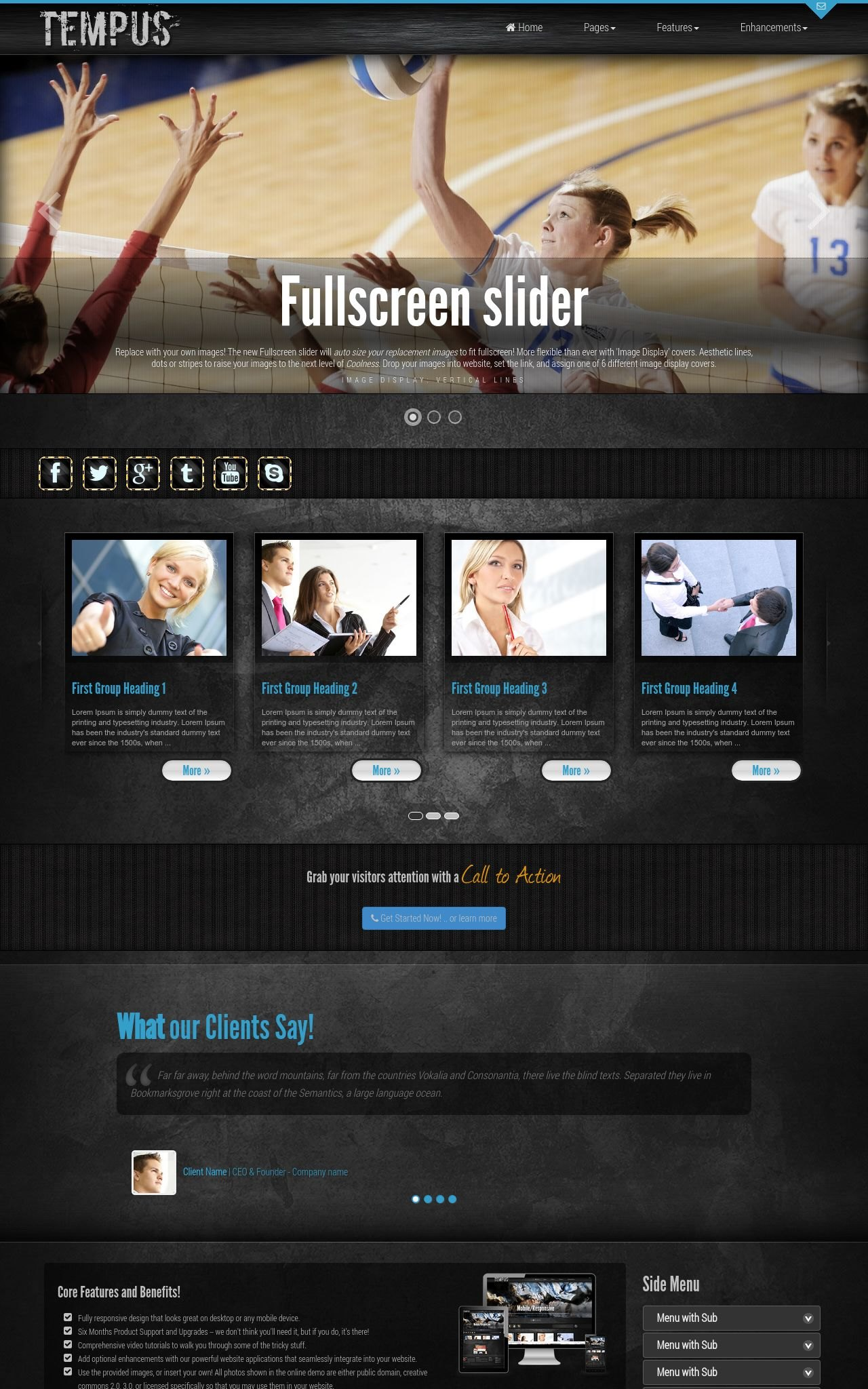 Desktop: Volleyball Wordpress Theme