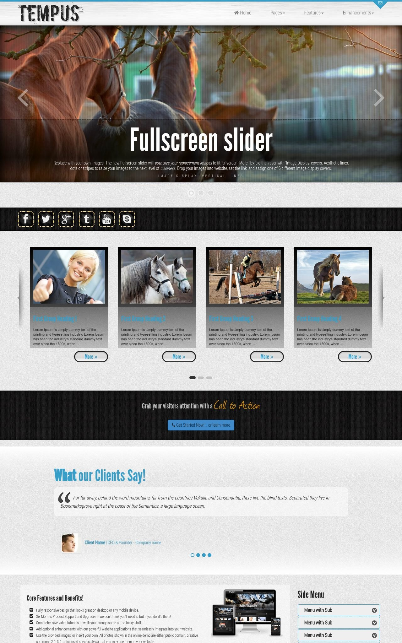 Tablet: Equestrian Wordpress Theme