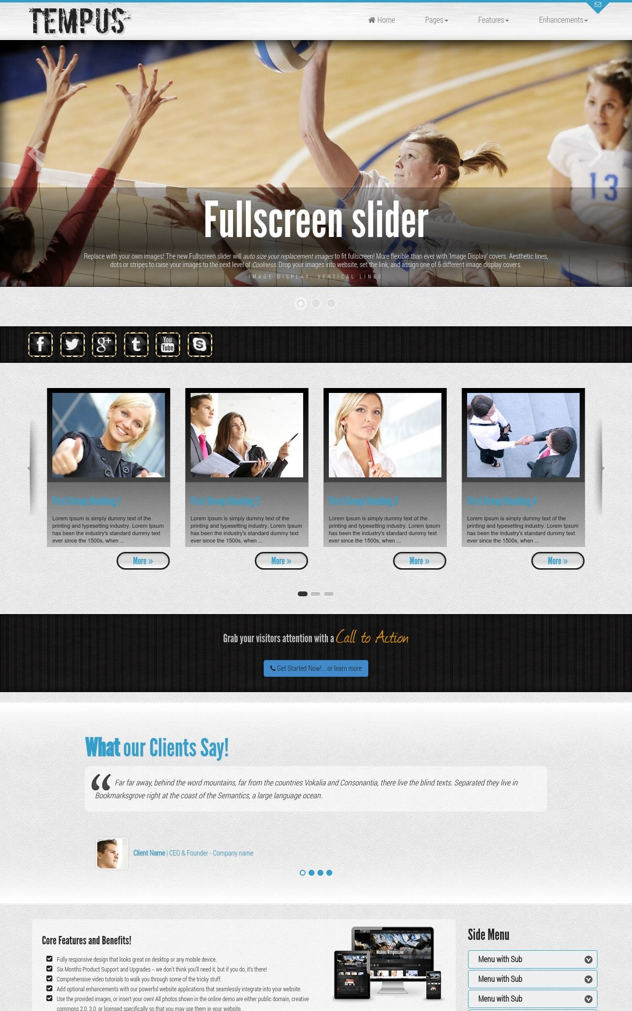 Tablet: Volleyball Wordpress Theme