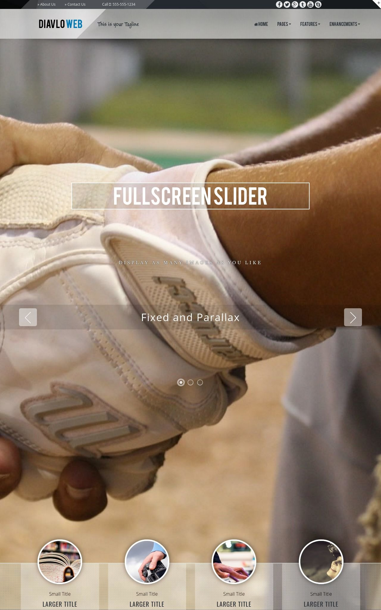 Tablet: Baseball Web Template
