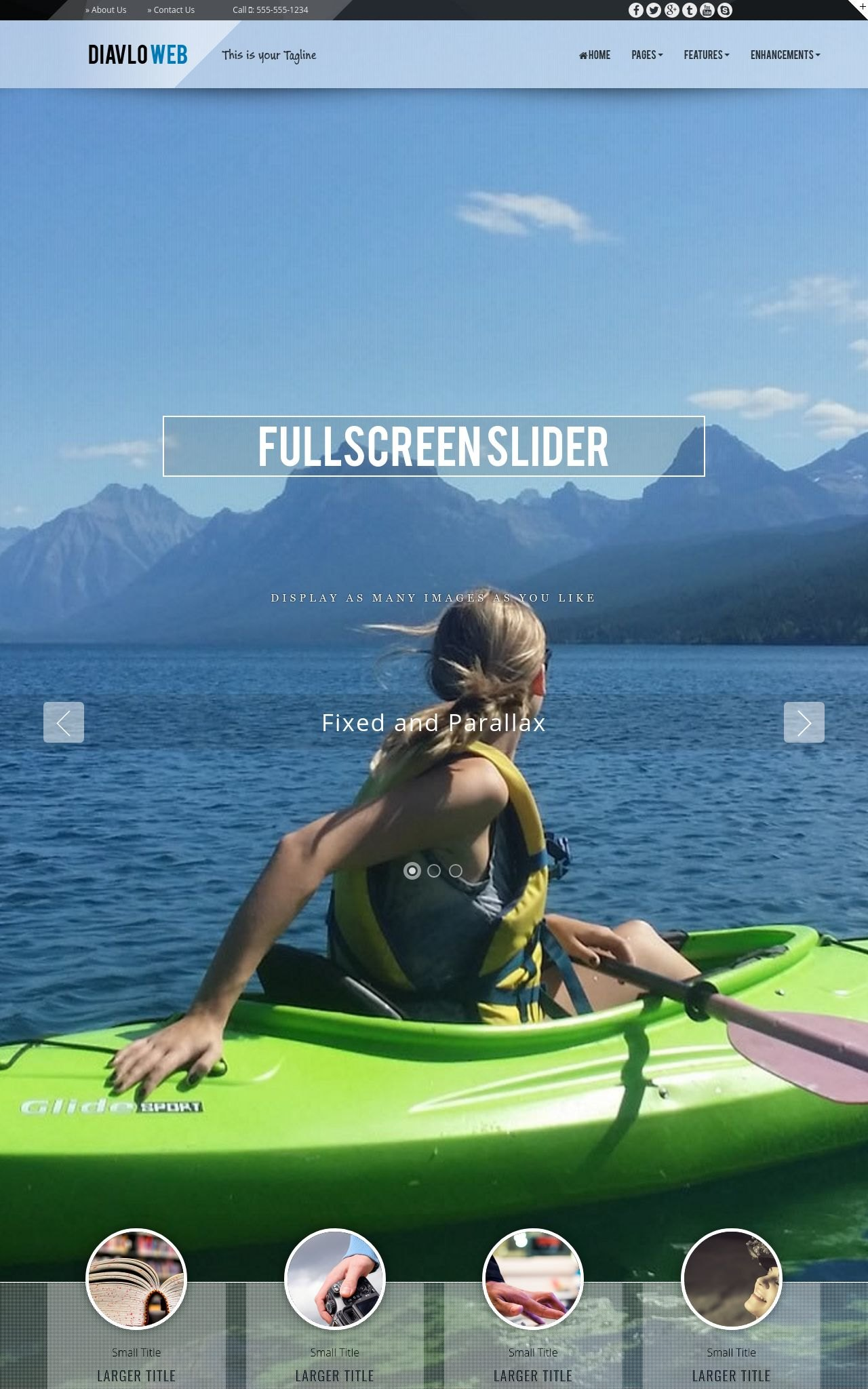 Tablet: Kayak Web Template