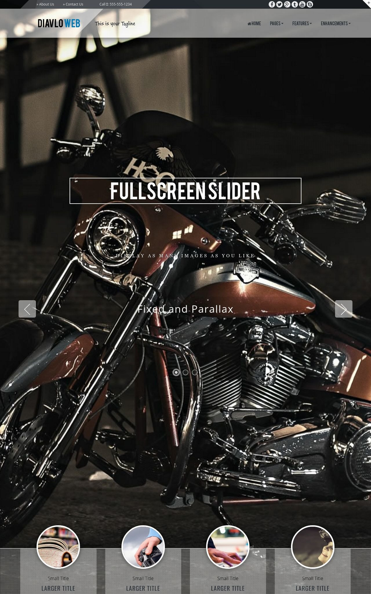 Motorcycle Web Templates