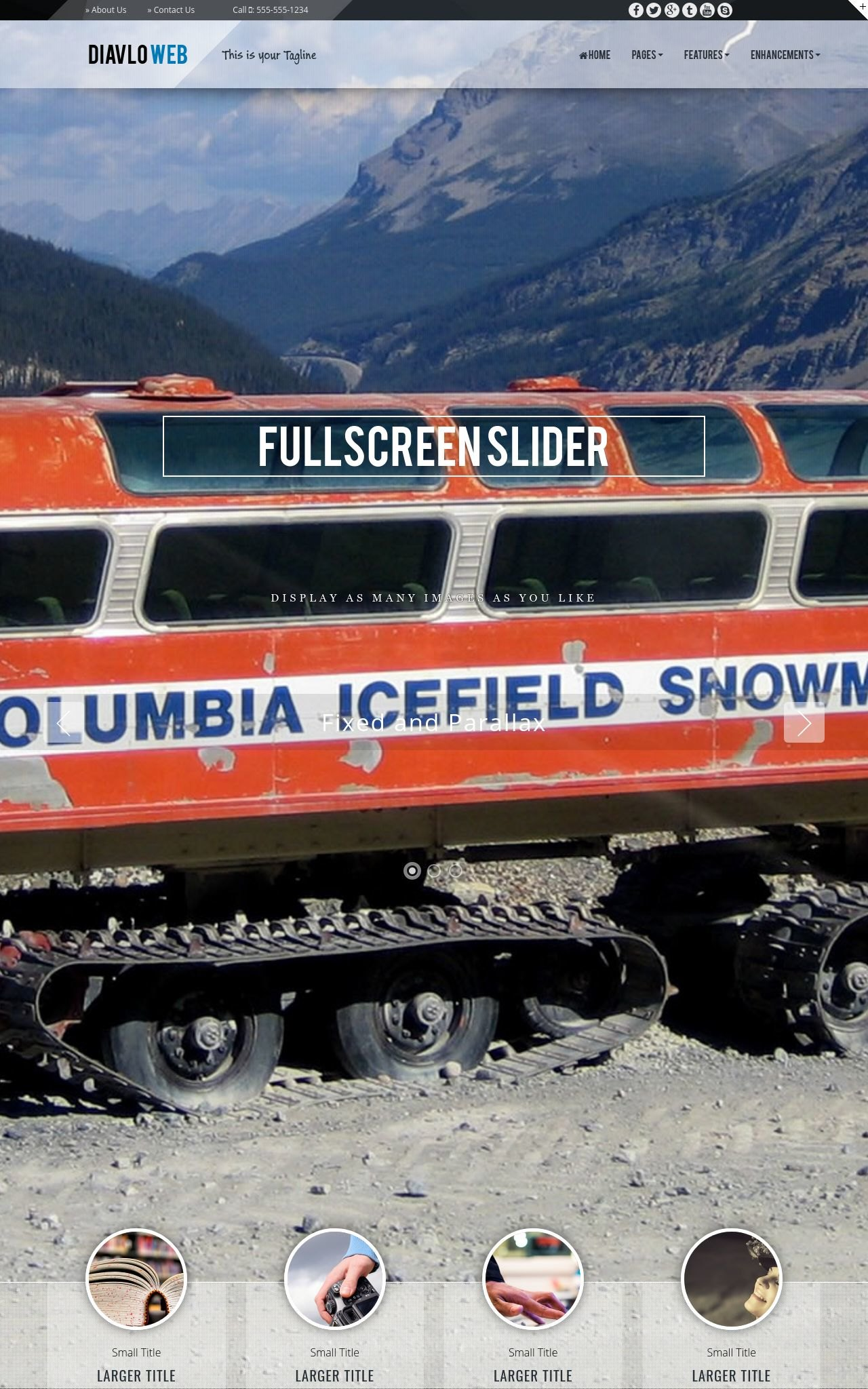 Tablet: Snowmobile Web Template