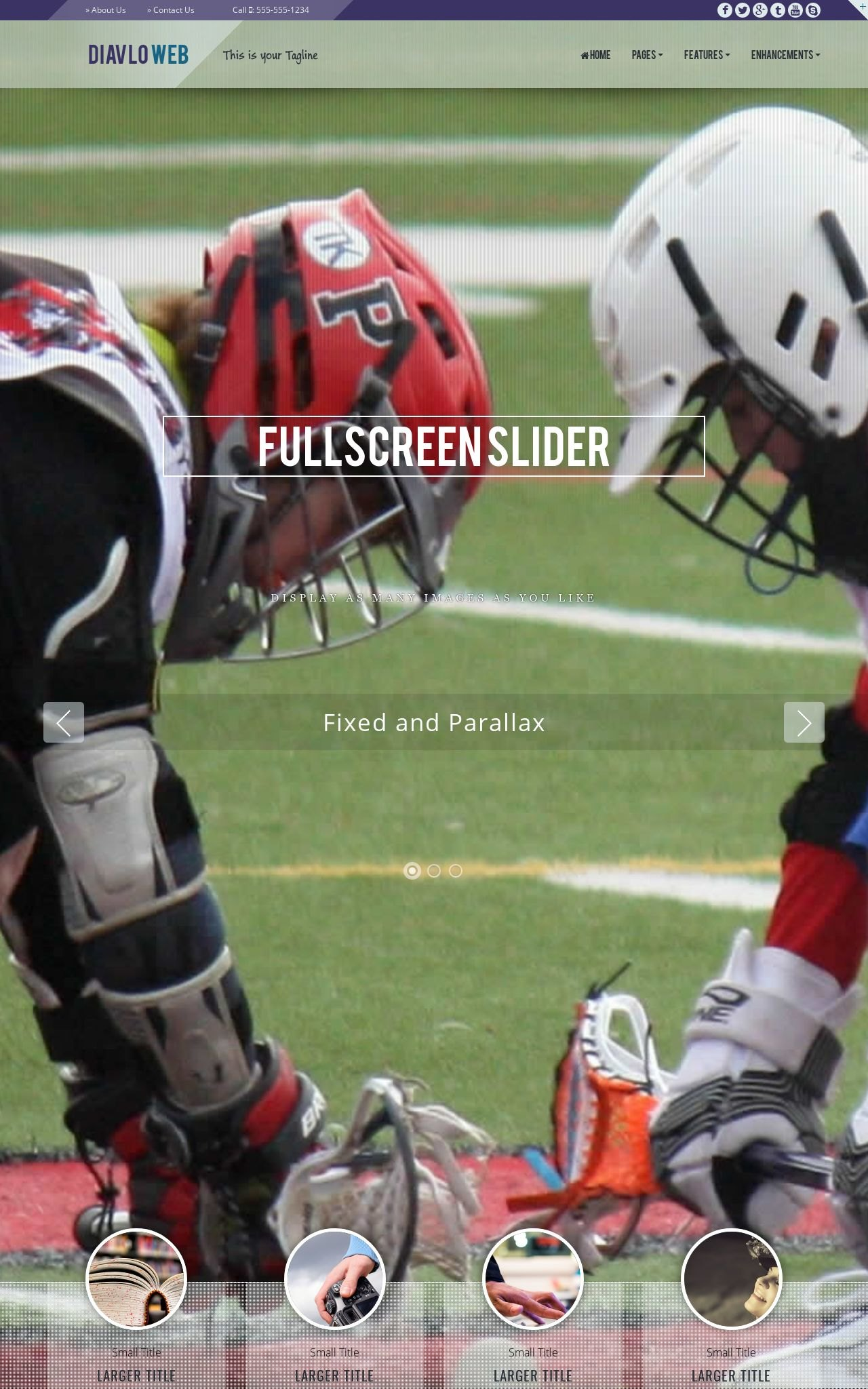 Tablet: Lacrosse Web Template