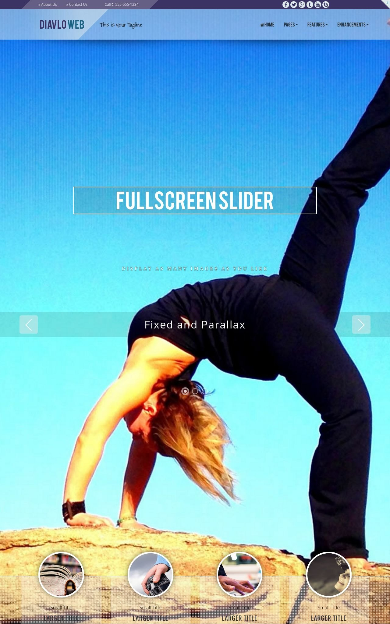 Tablet: Yoga Web Template
