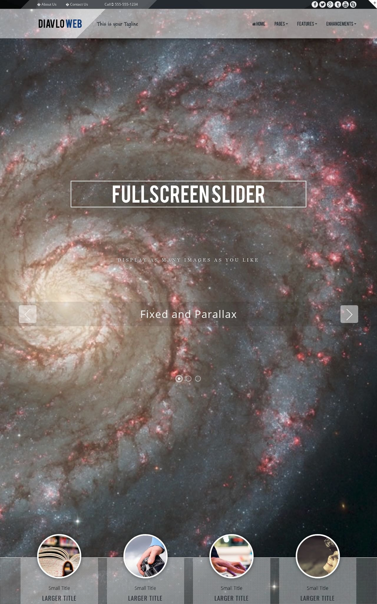 Tablet: Astronomy Web Template