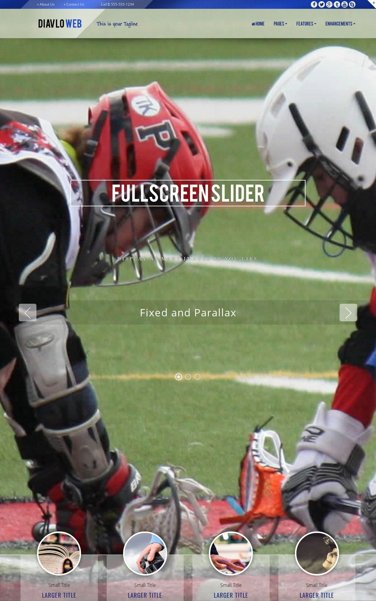 Desktop: Lacrosse Web Template