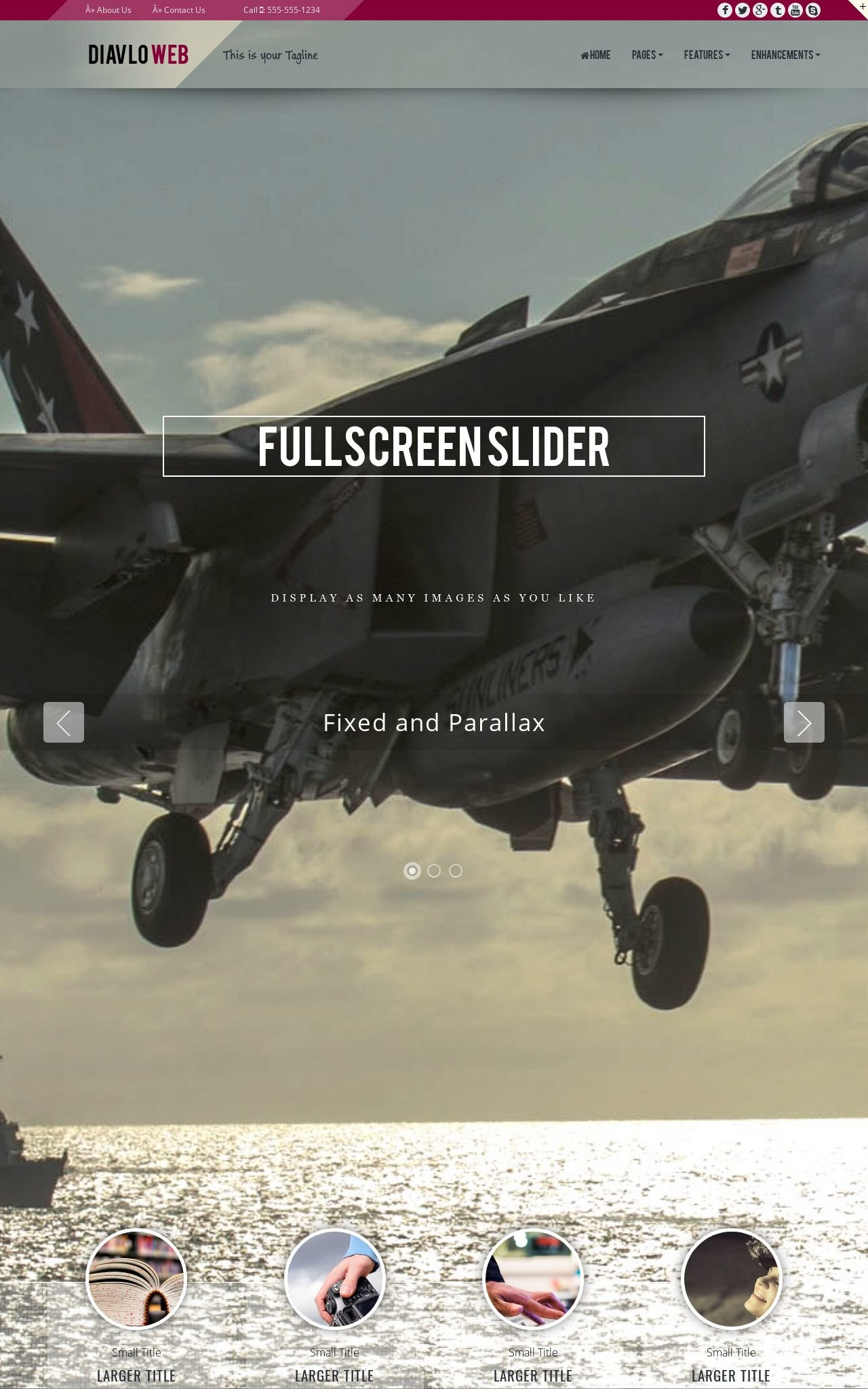 Tablet: Aviation Web Template