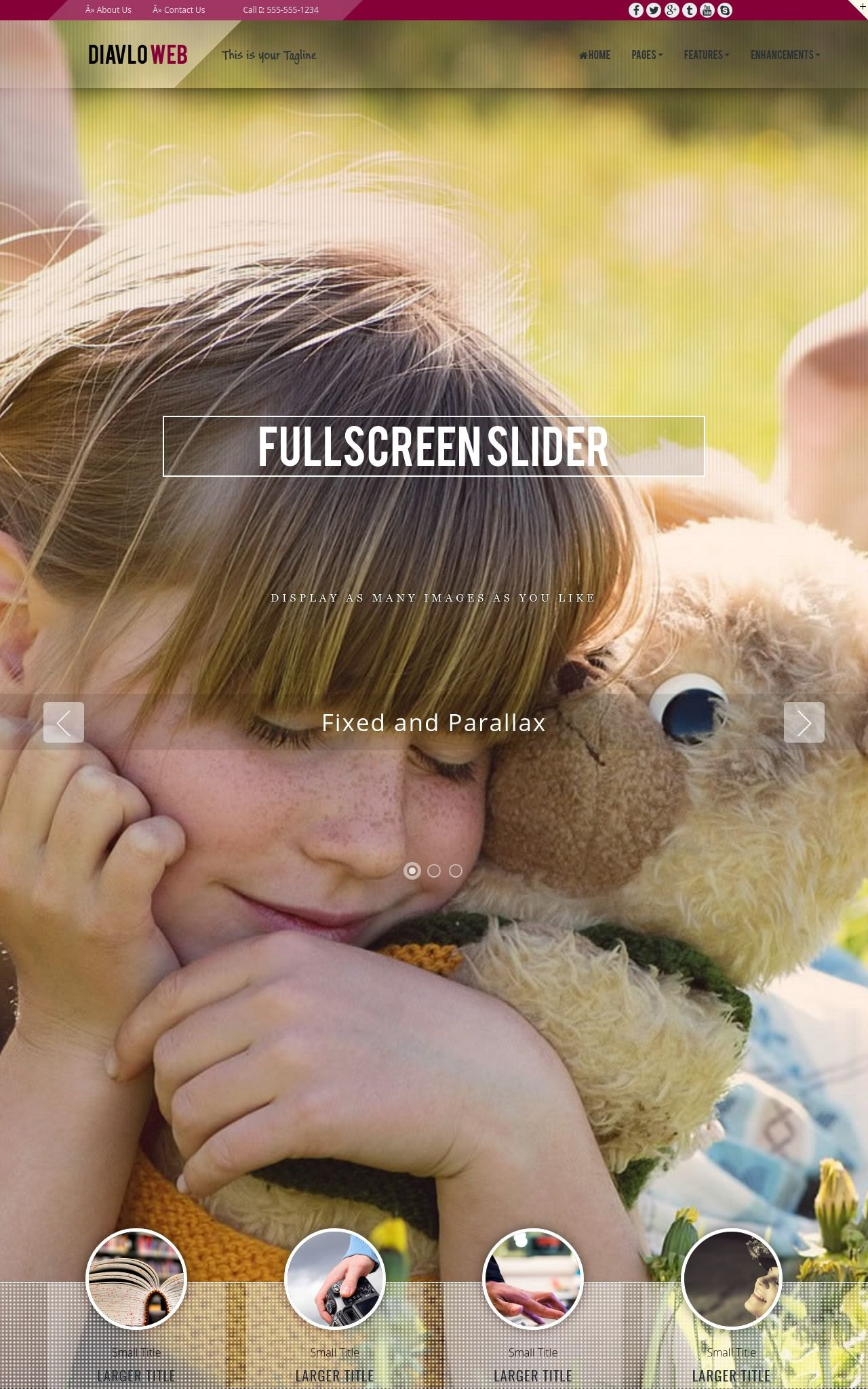 Tablet: Child-care Web Template