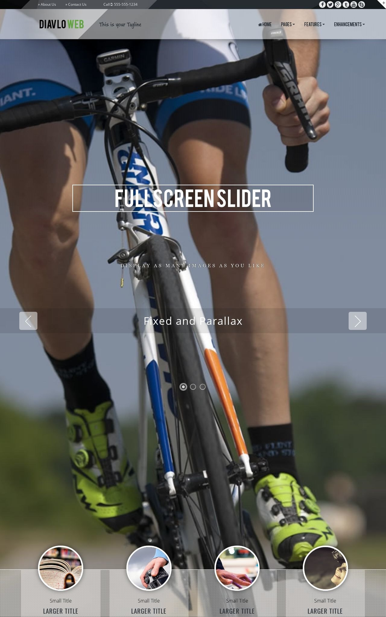 Tablet: Cycling Dreamweaver Template