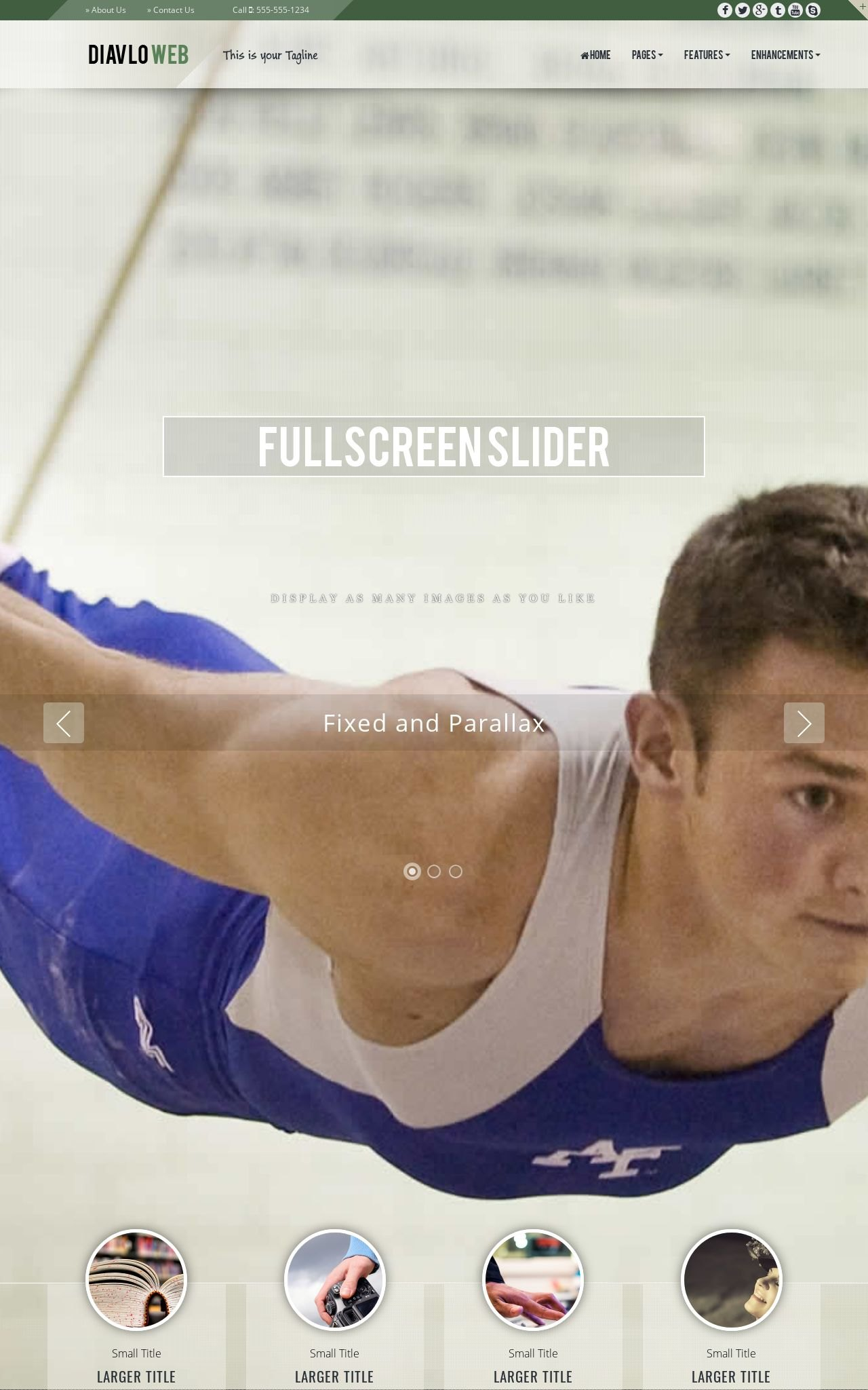 Gymnastics Web Templates