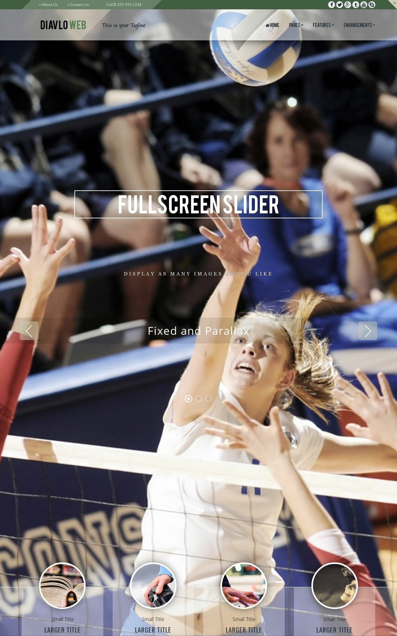 Volleyball Web Templates