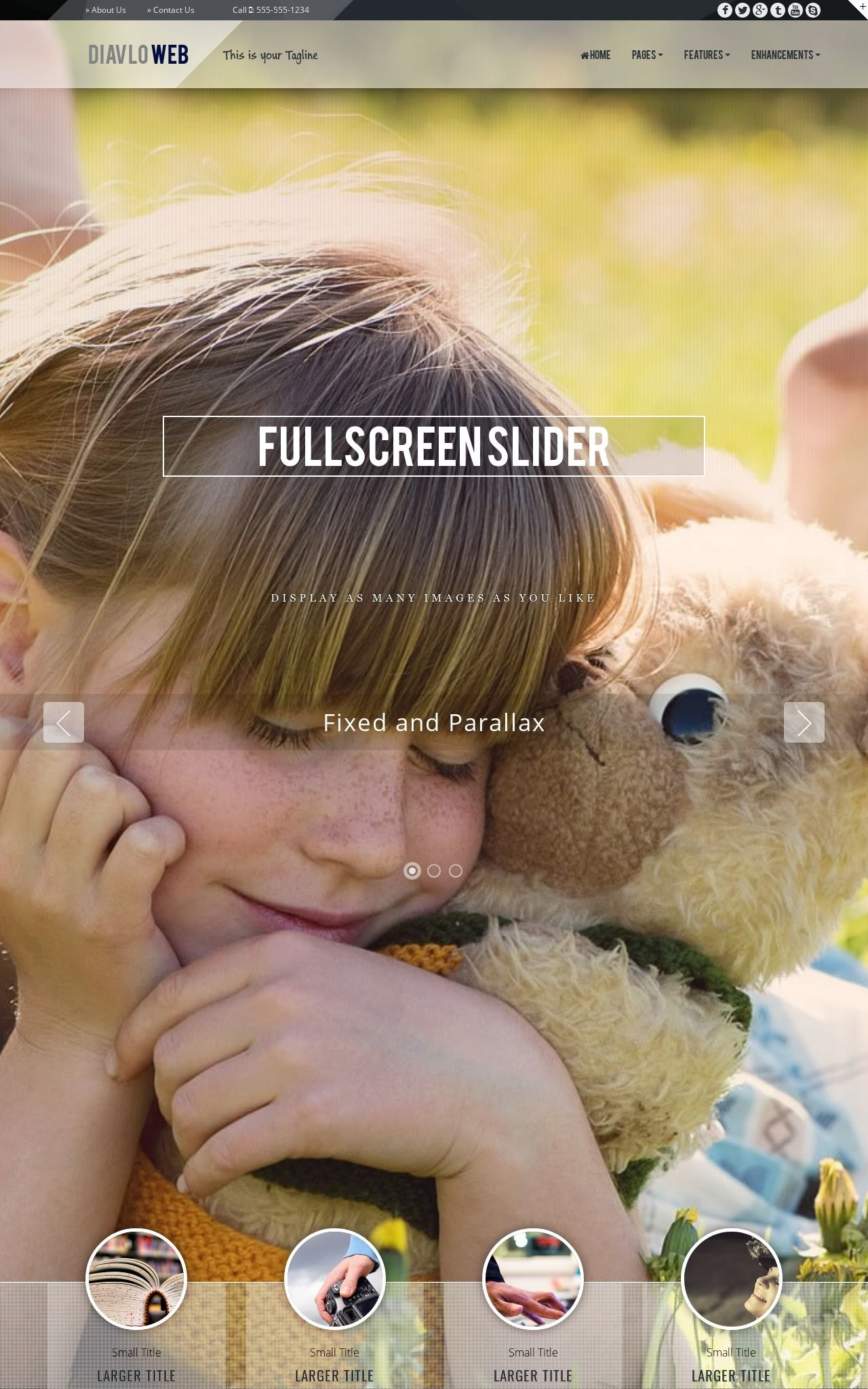 Desktop: Child-care Web Template