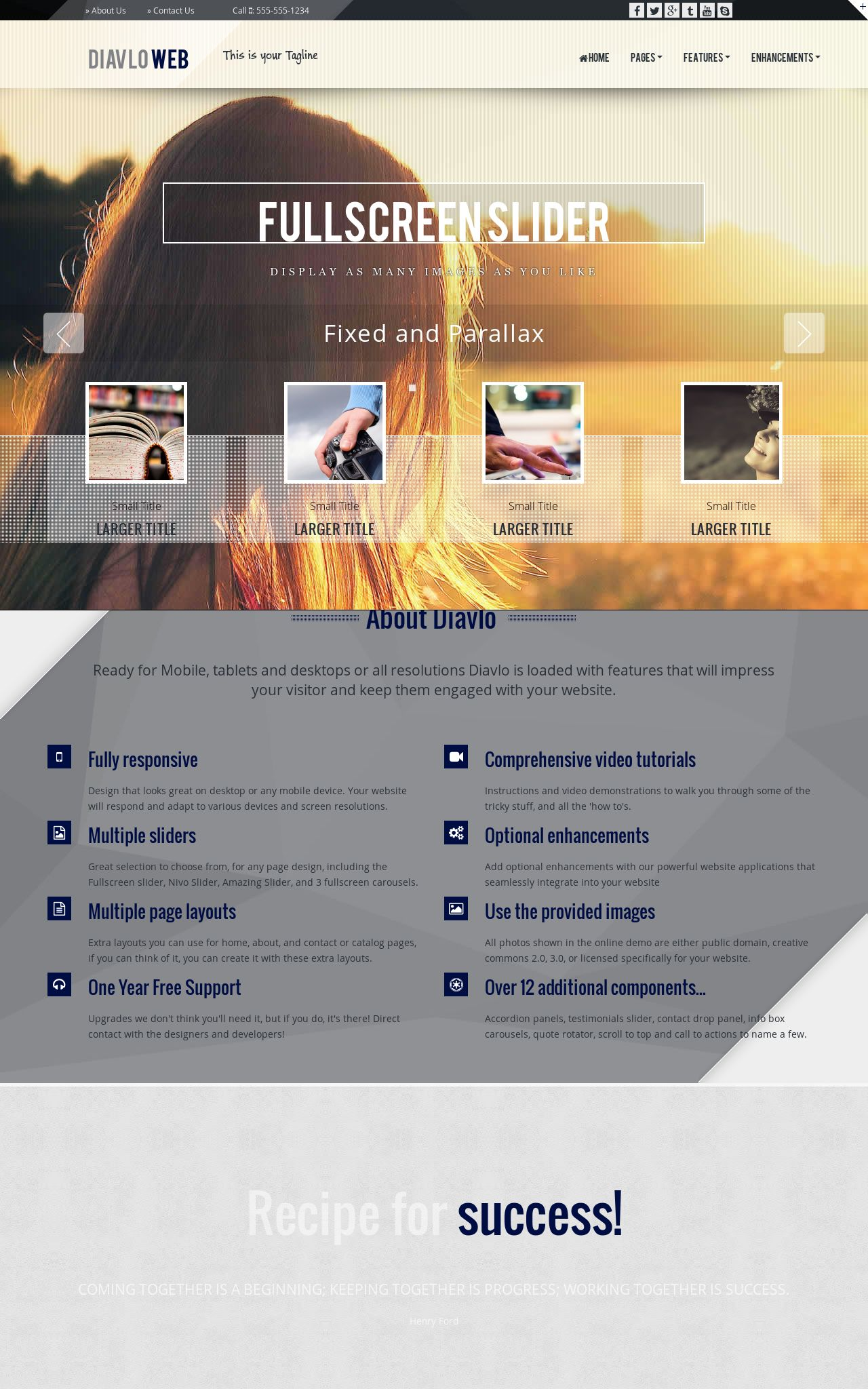 Desktop: Multi-purpose Web Template