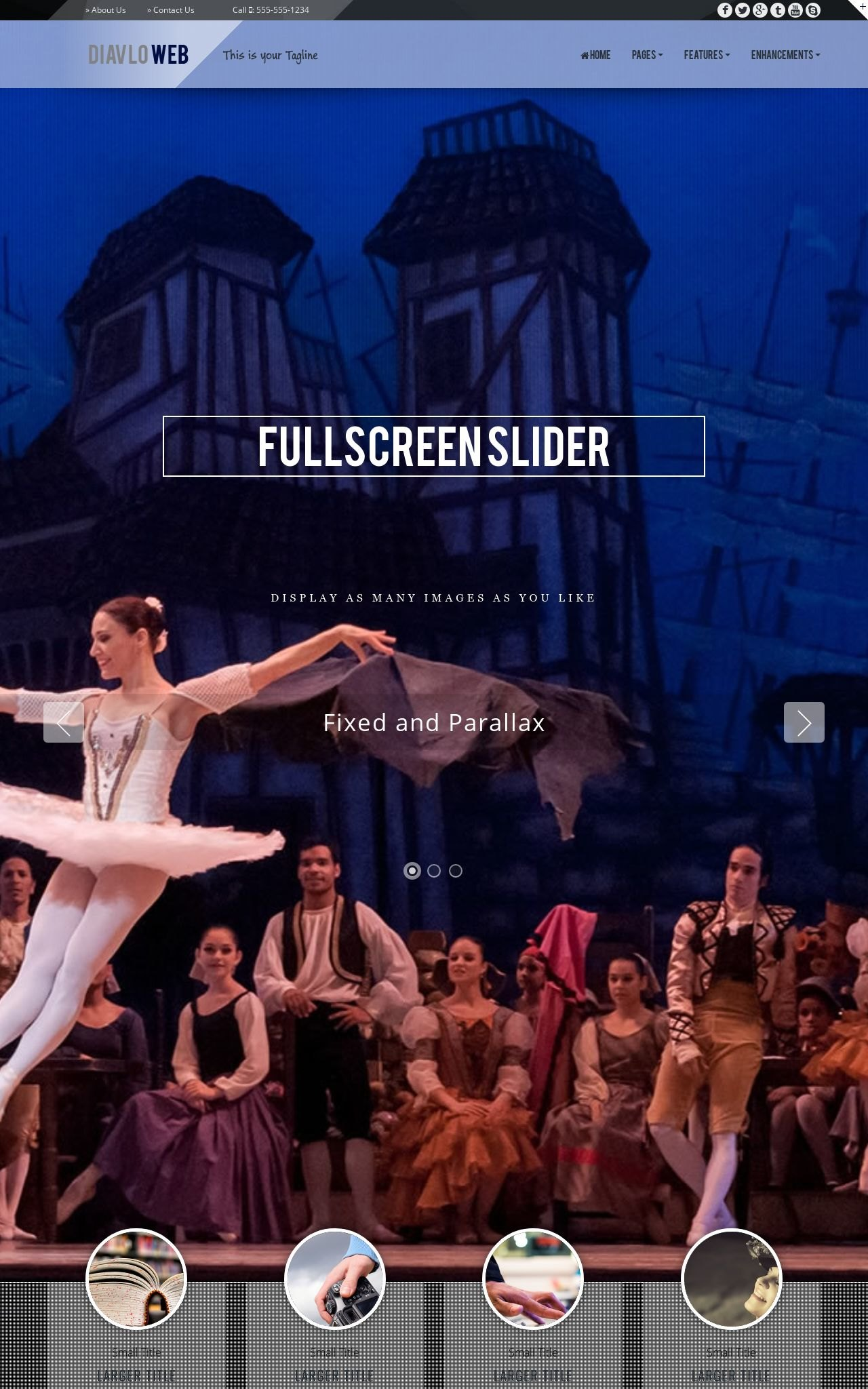 Tablet: Theatre Web Template