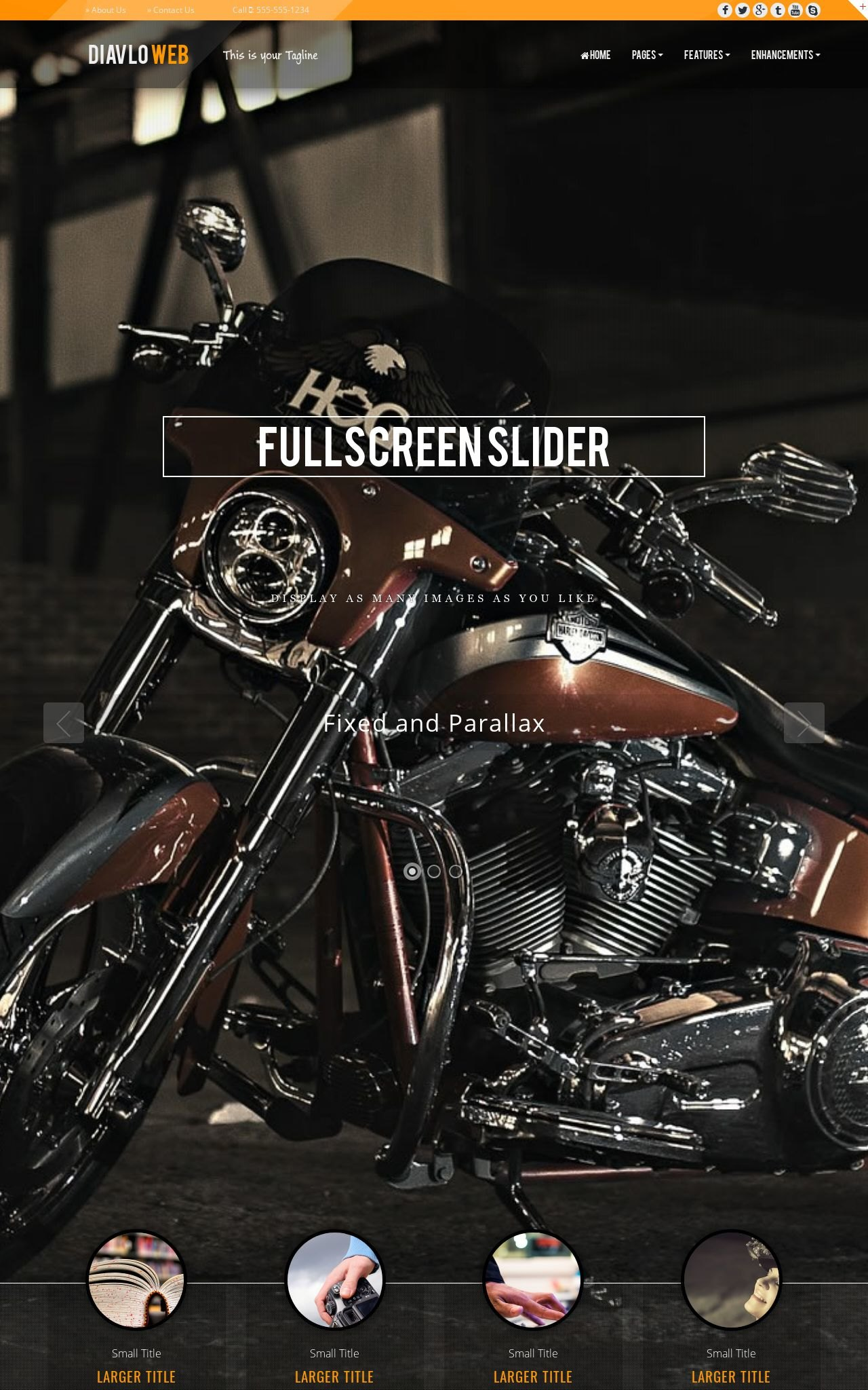 Tablet: Motorcycle Web Template