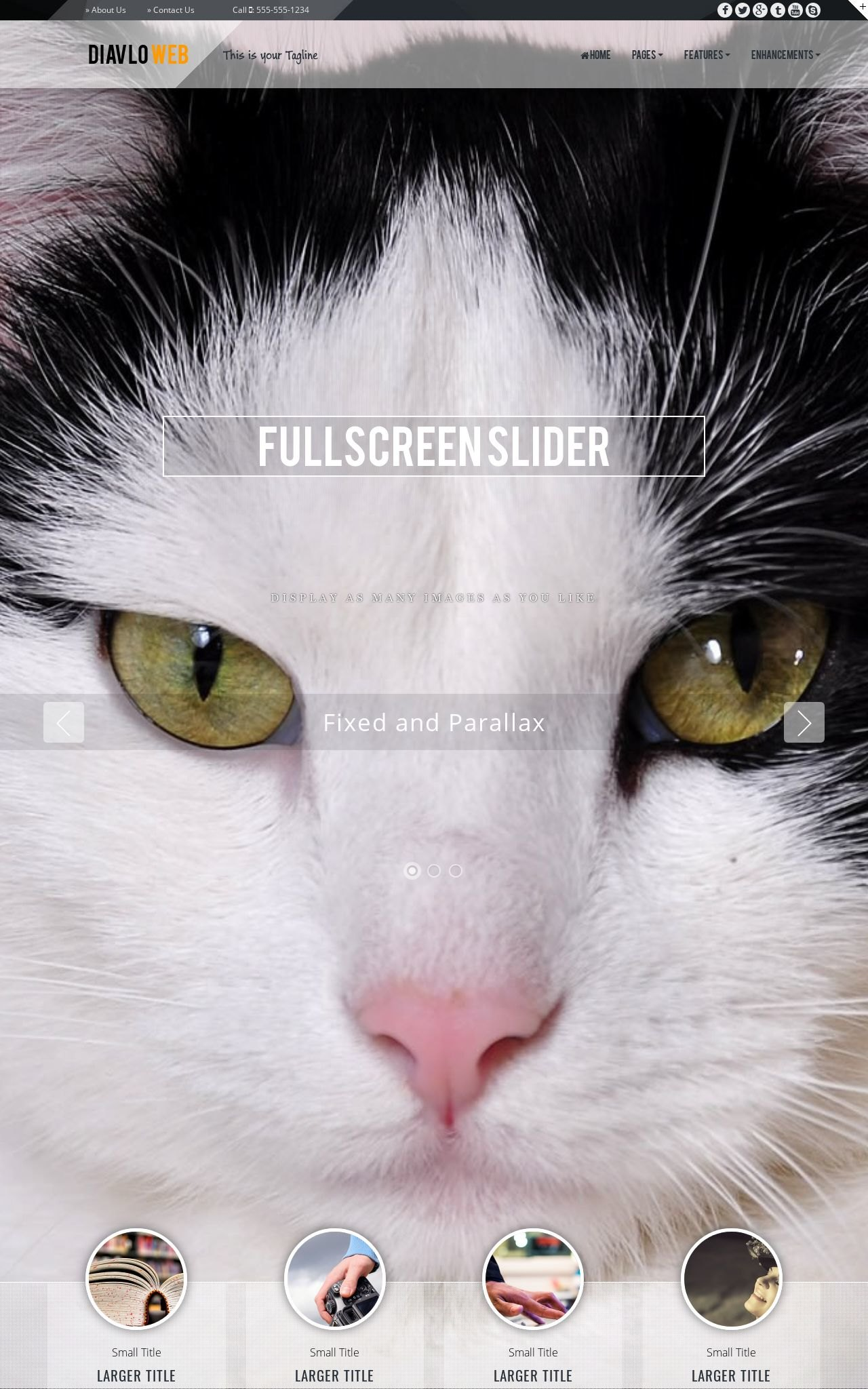 Tablet: Cats Web Template