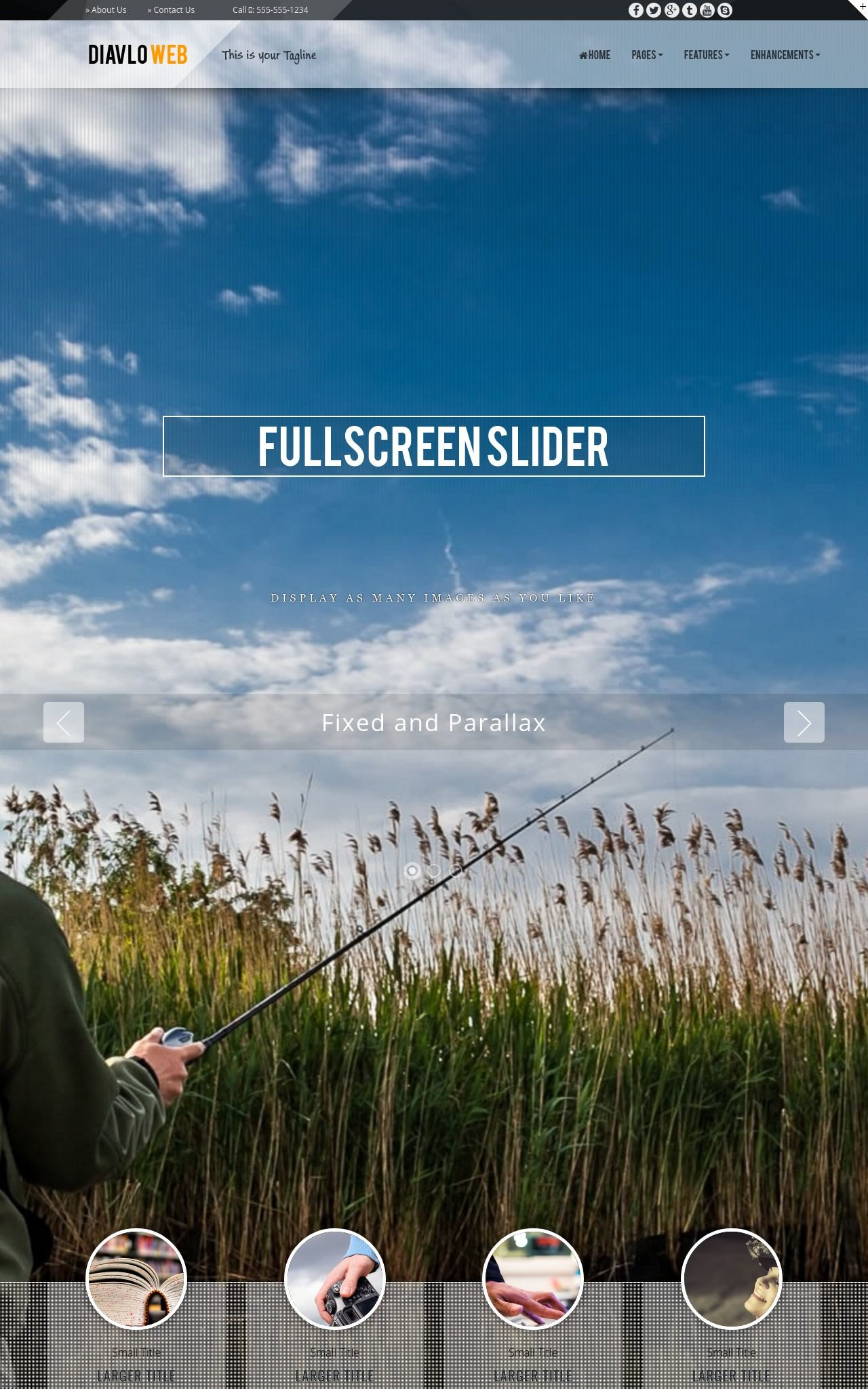 Tablet: Fishing Web Template