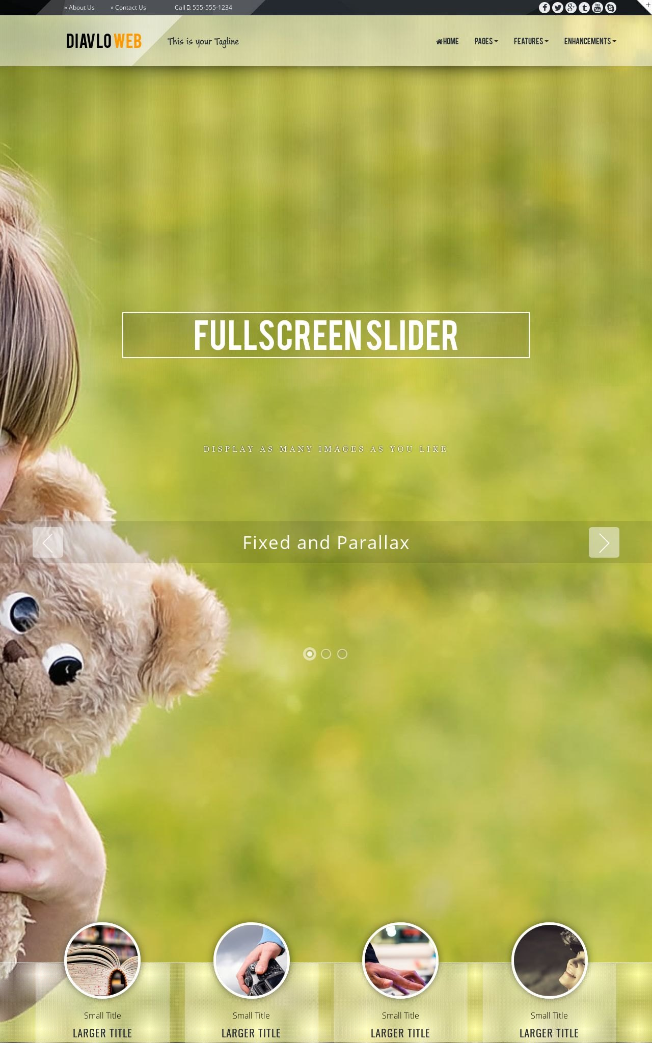 Tablet: Nature Web Template