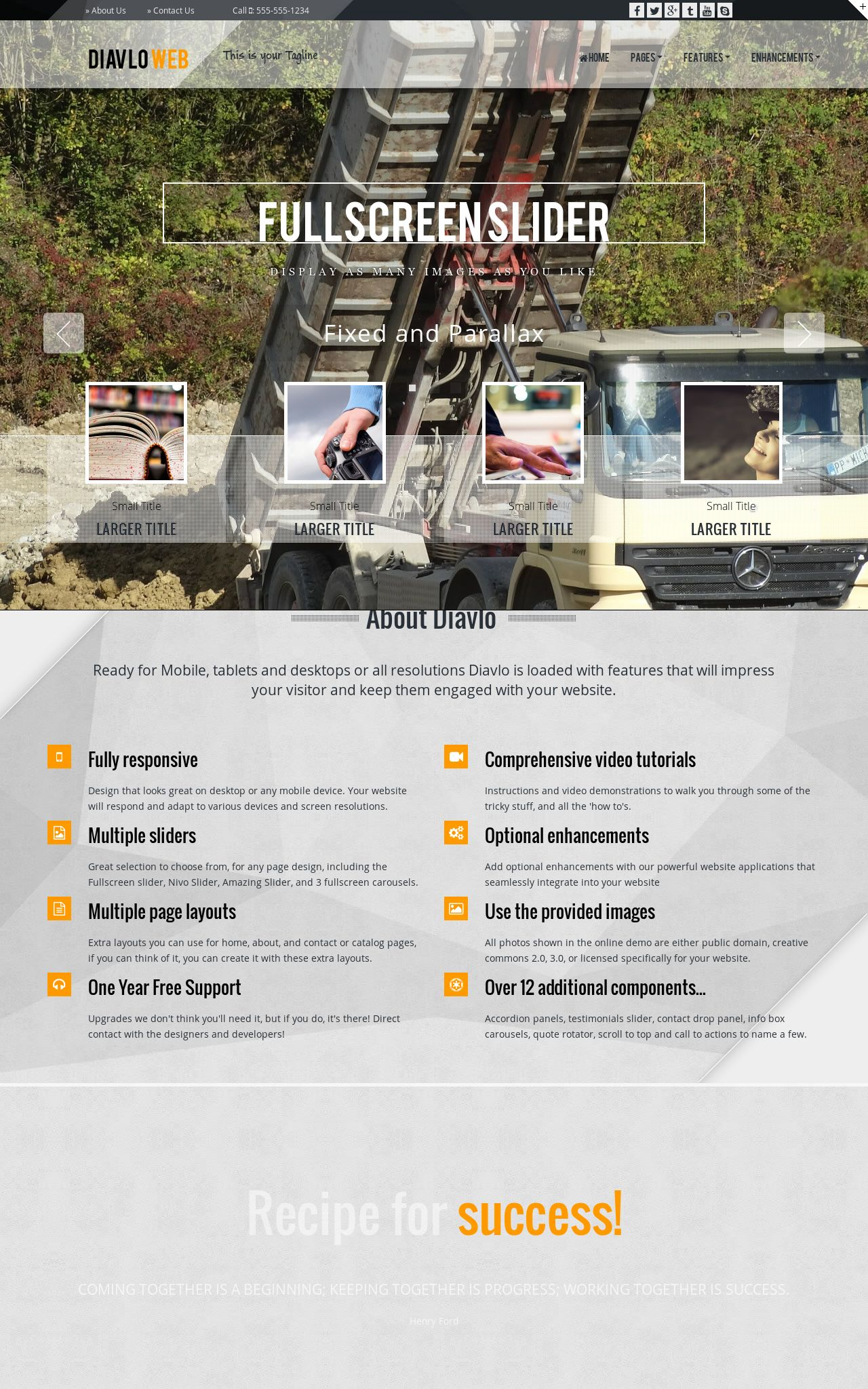 Tablet: Trucking Web Template