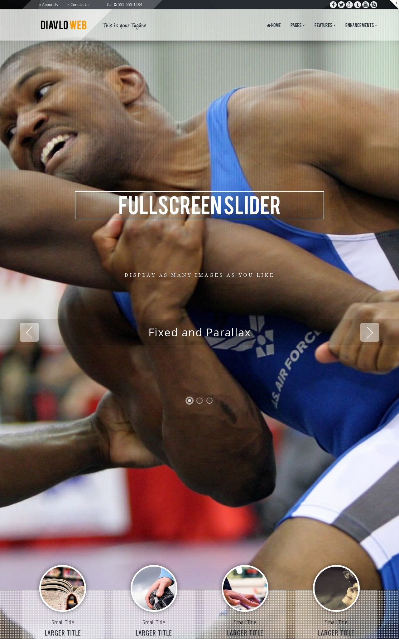 Tablet: Wrestling Web Template