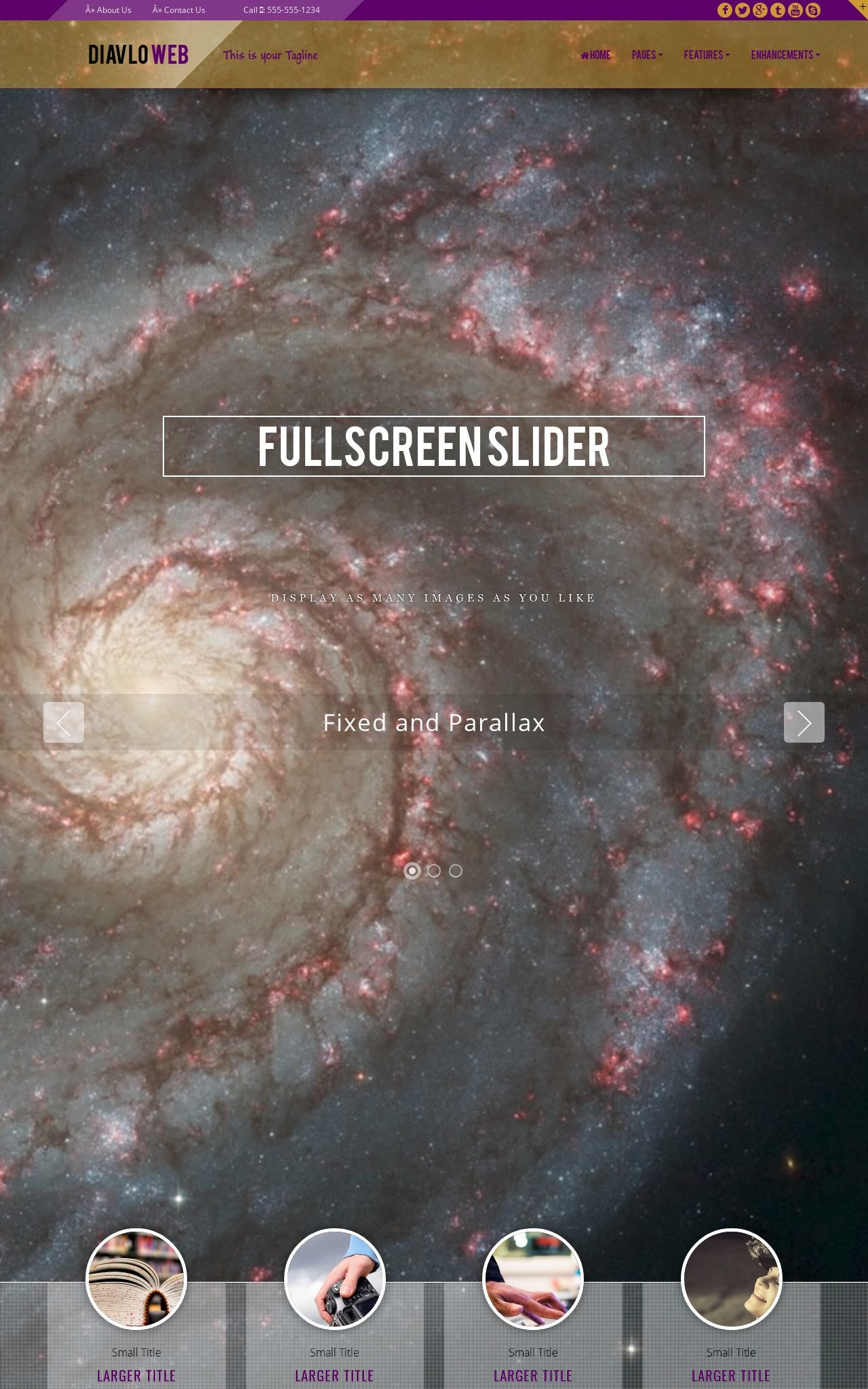 Desktop: Astronomy Web Template
