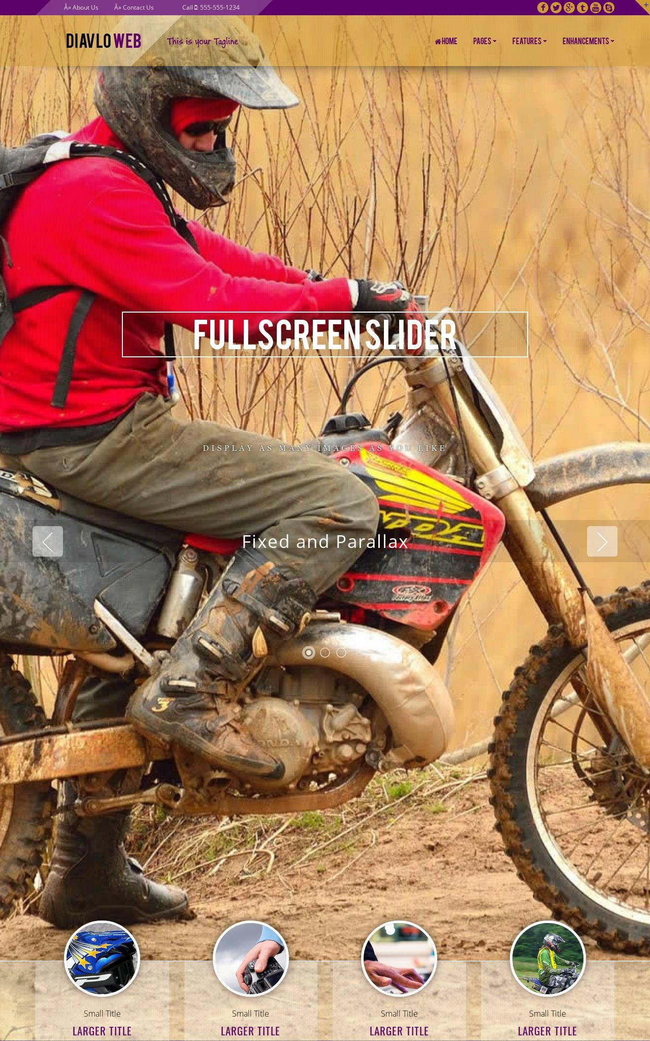 Desktop: Motocross Web Template