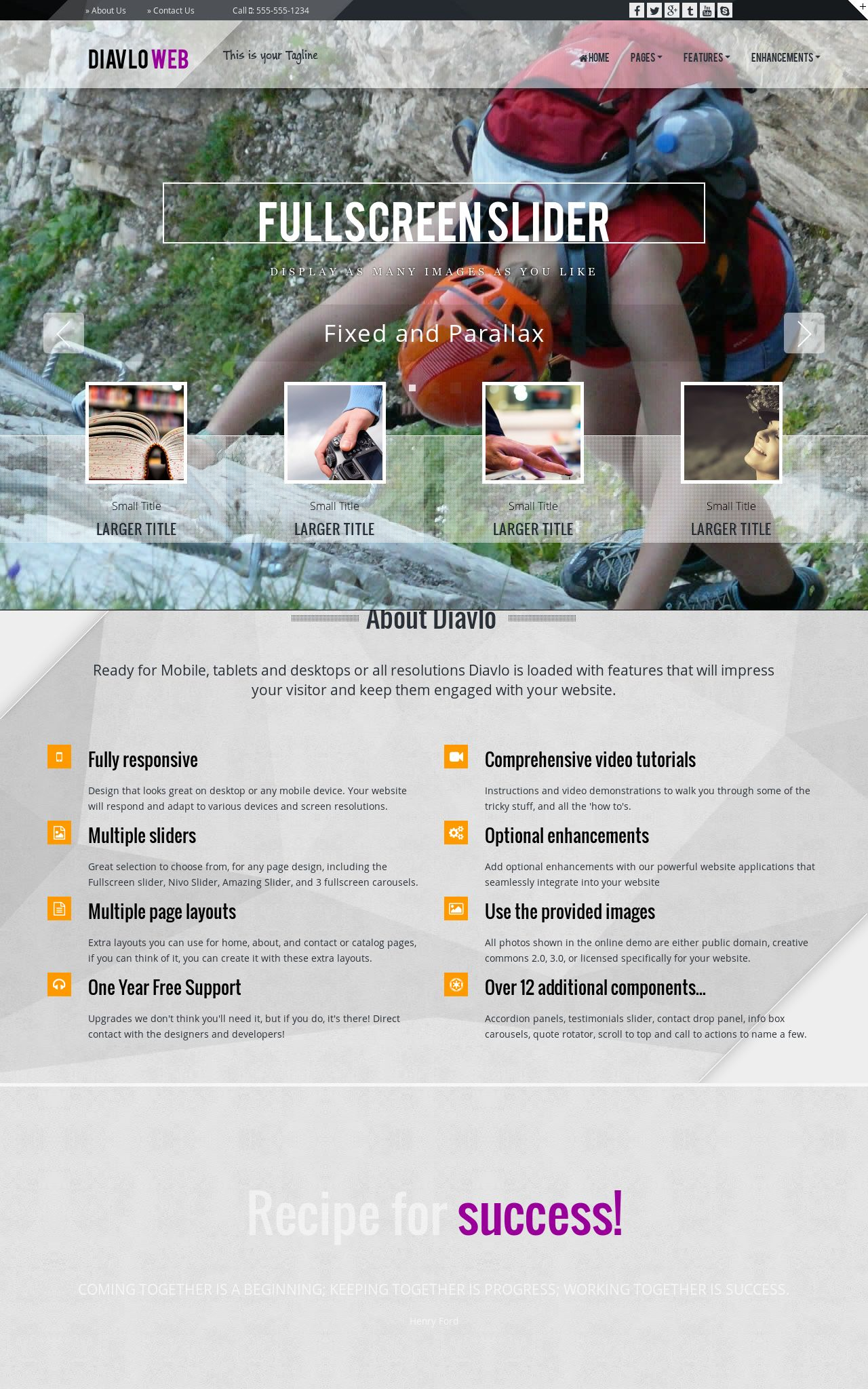 Mountain-climbing Dreamweaver Templates