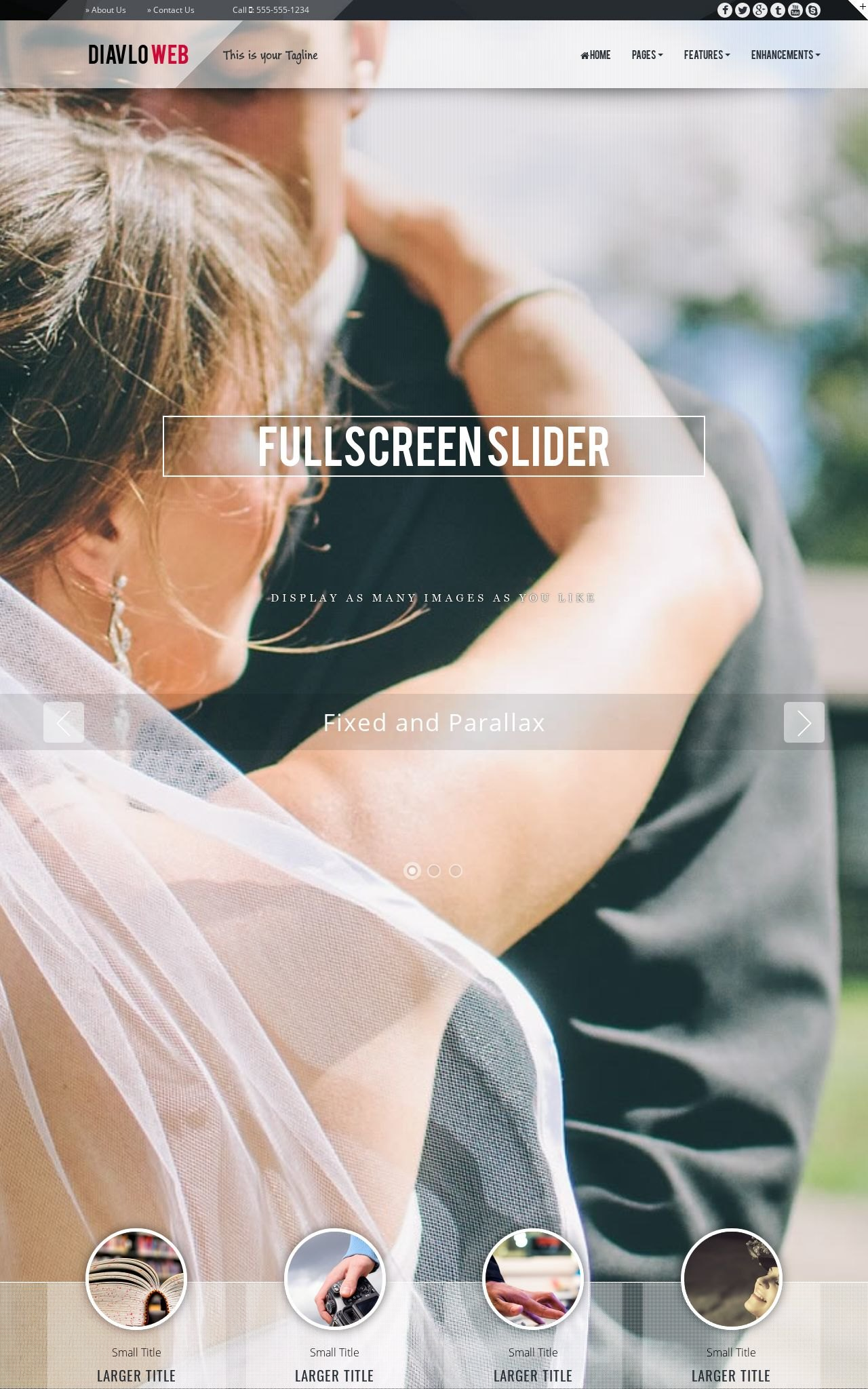 Tablet: Wedding Web Template