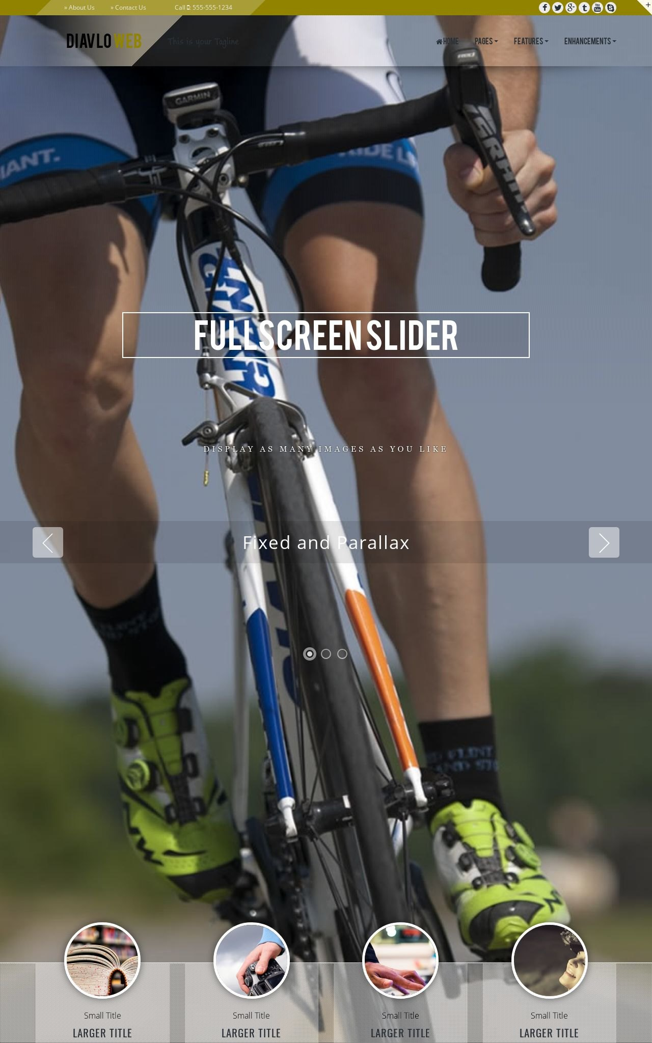 Tablet: Cycling Web Template