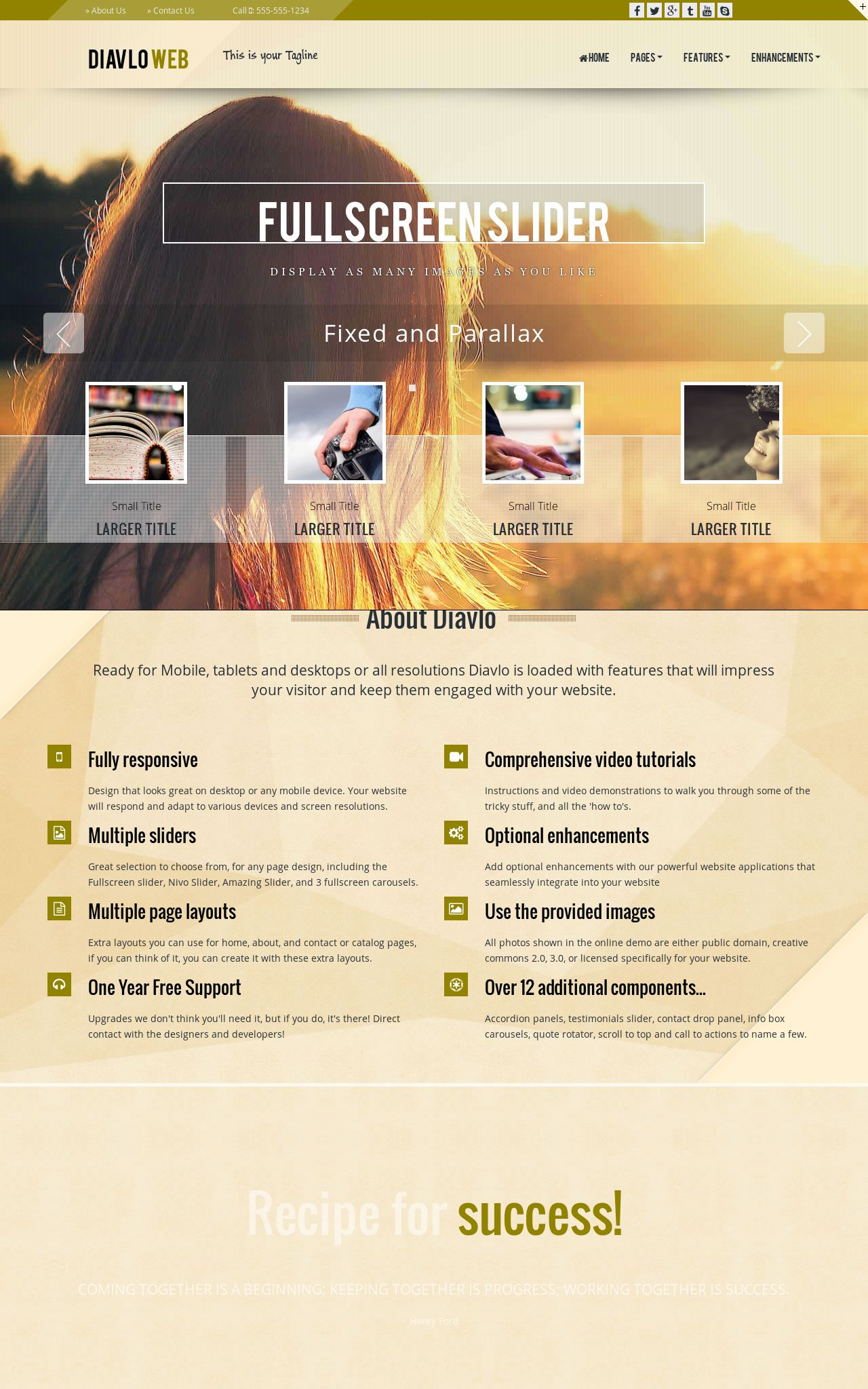 Multi-purpose Web Templates
