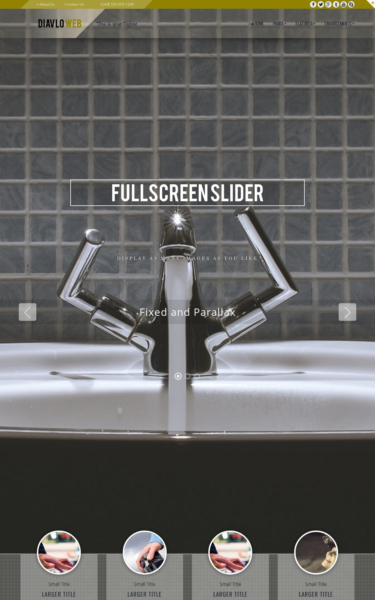 Tablet: Plumbing Web Template