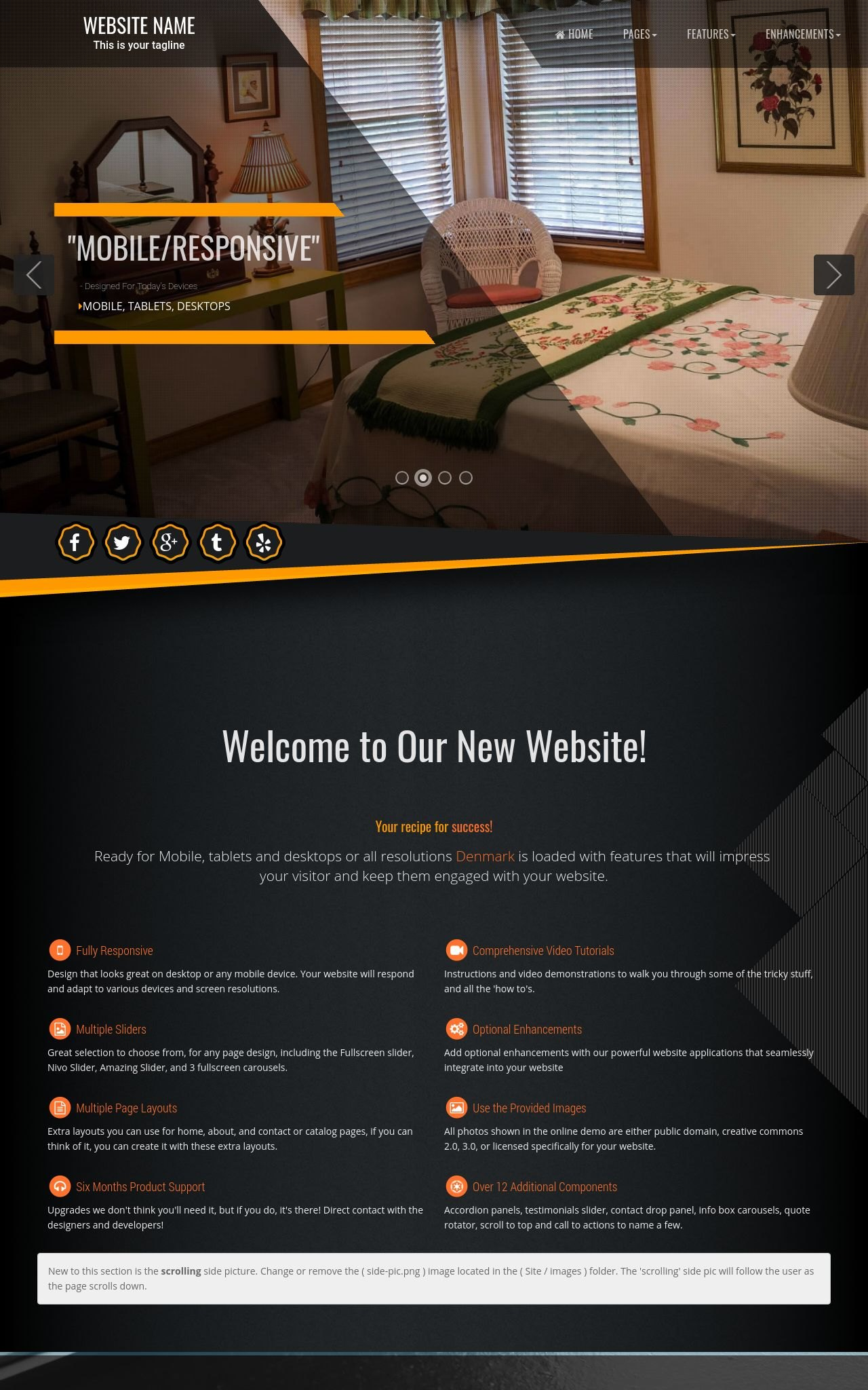 Desktop: Bed-and-breakfast Wordpress Theme