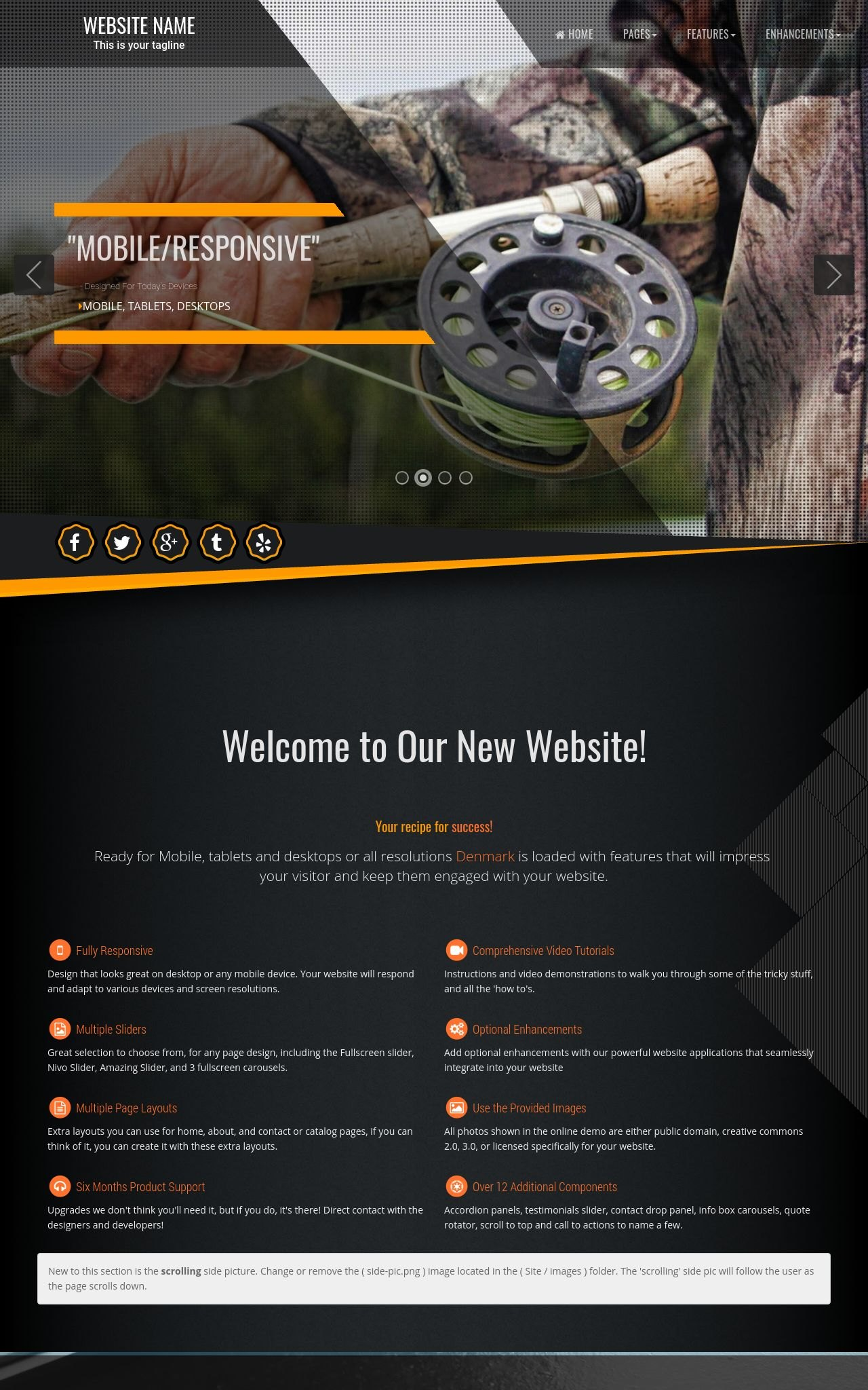 Desktop: Fishing Wordpress Theme