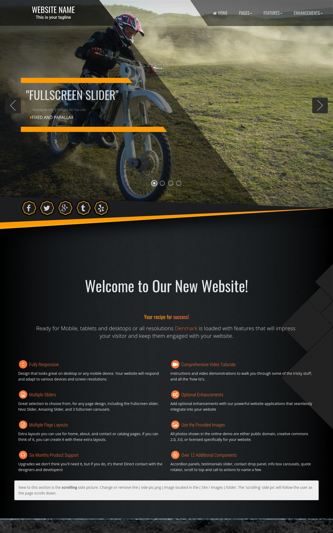 Desktop: Motocross Wordpress Theme