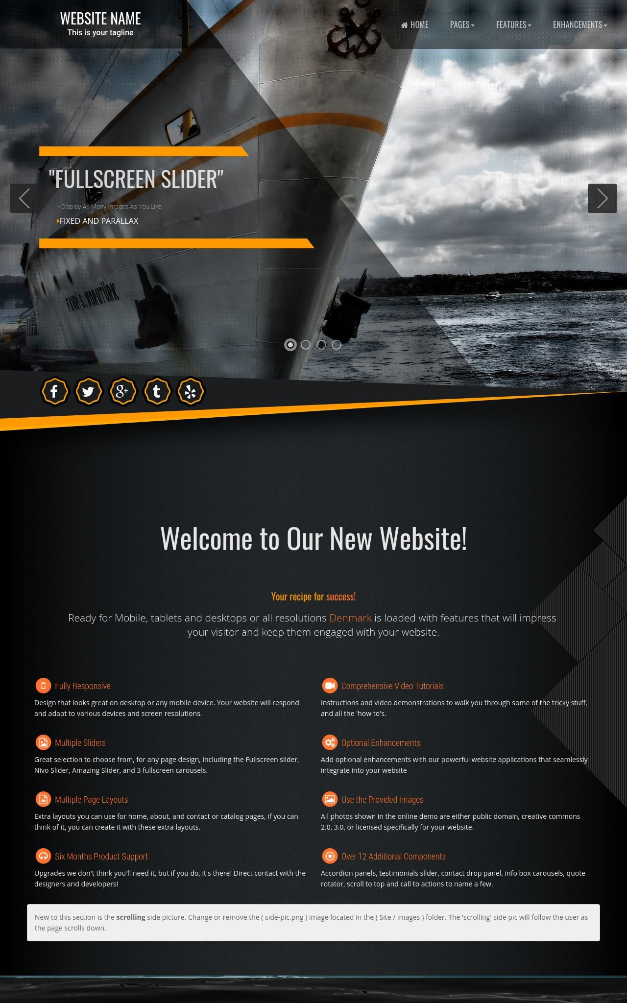 Tablet: Sailing Web Template