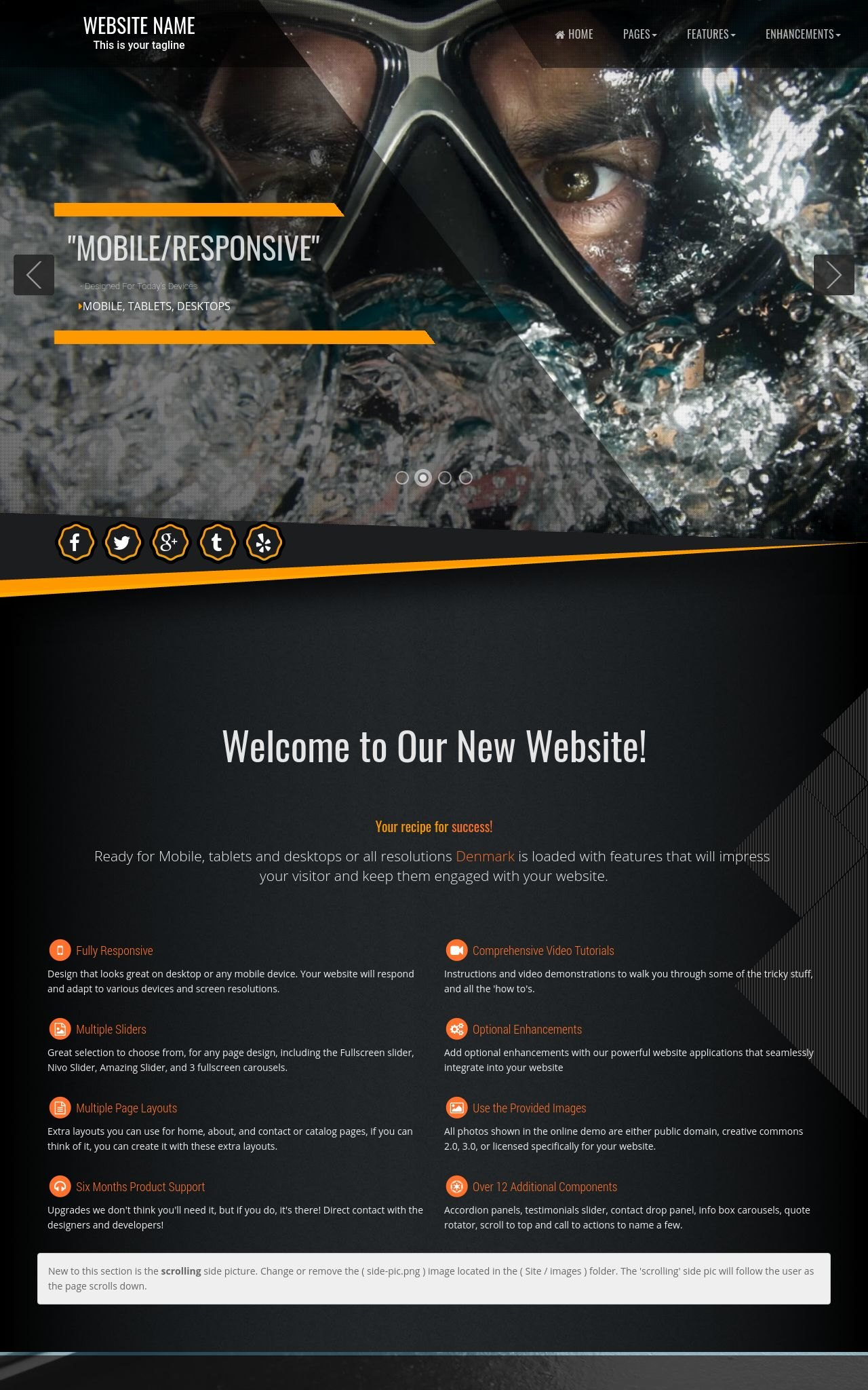 Scuba-diving Web Templates