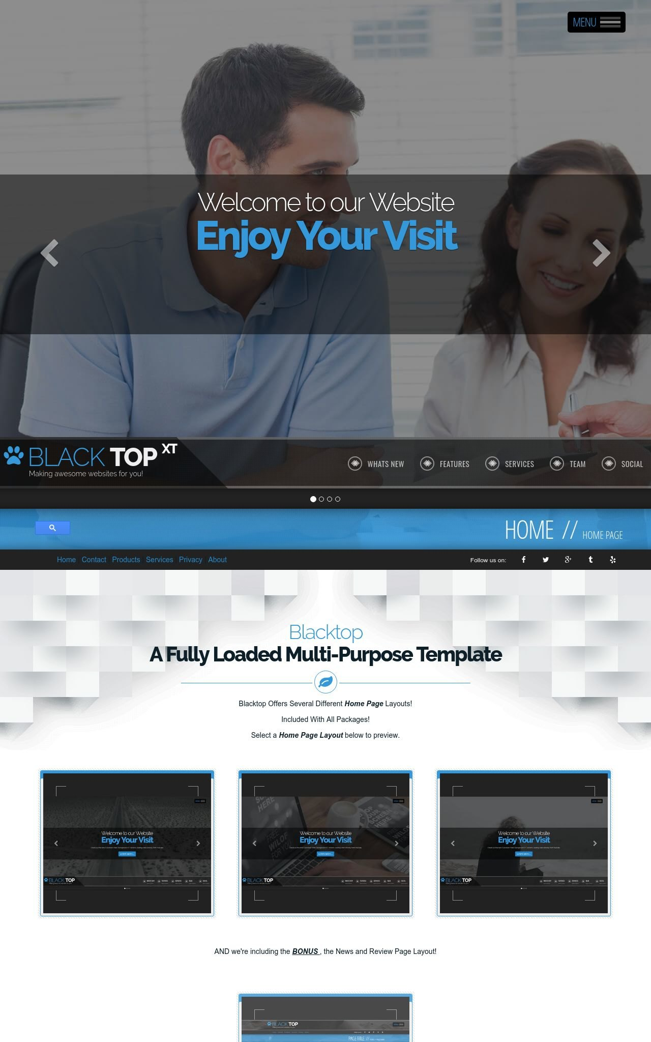 Insurance Frontpage Templates