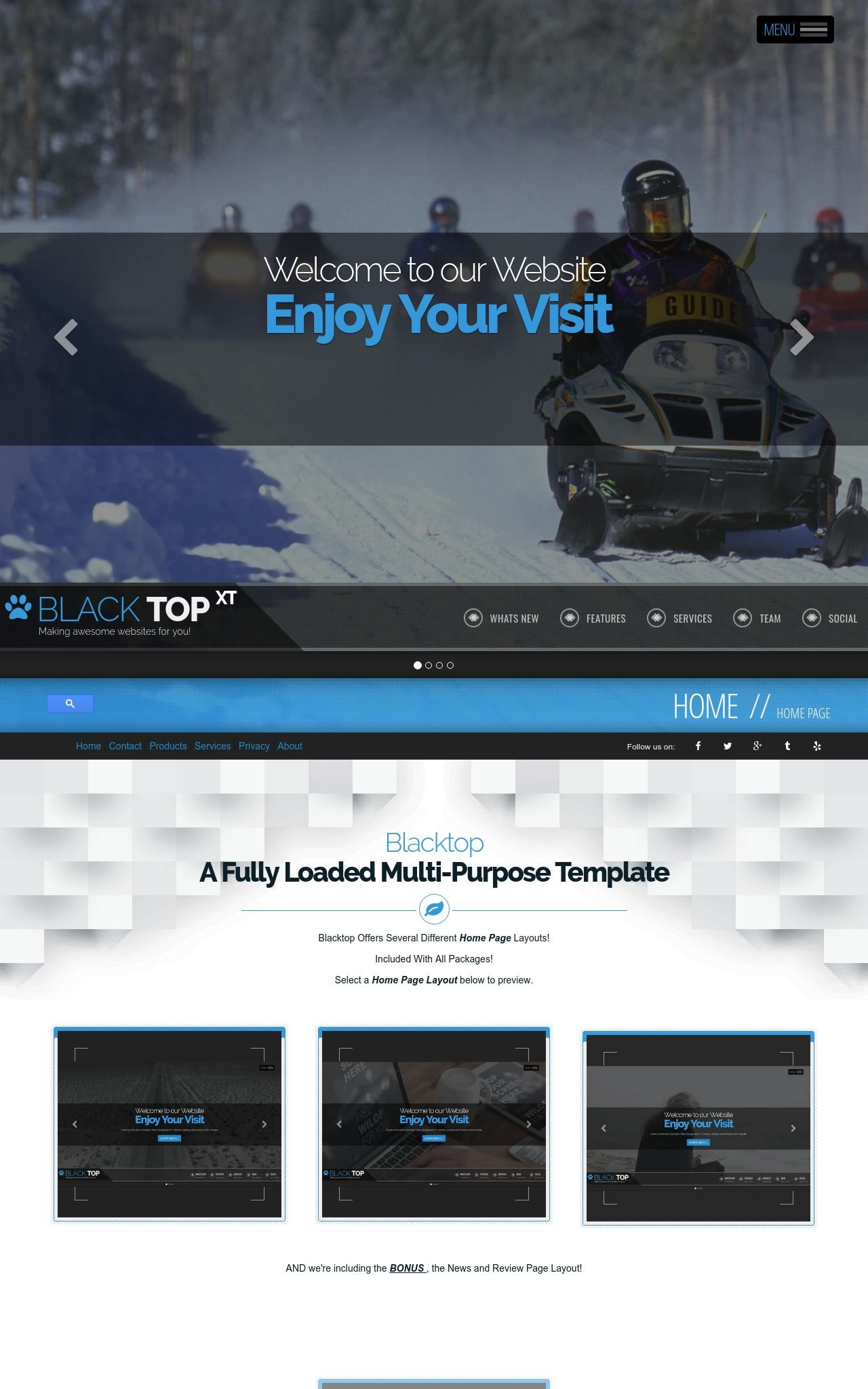 Snowmobile Wordpress Themes
