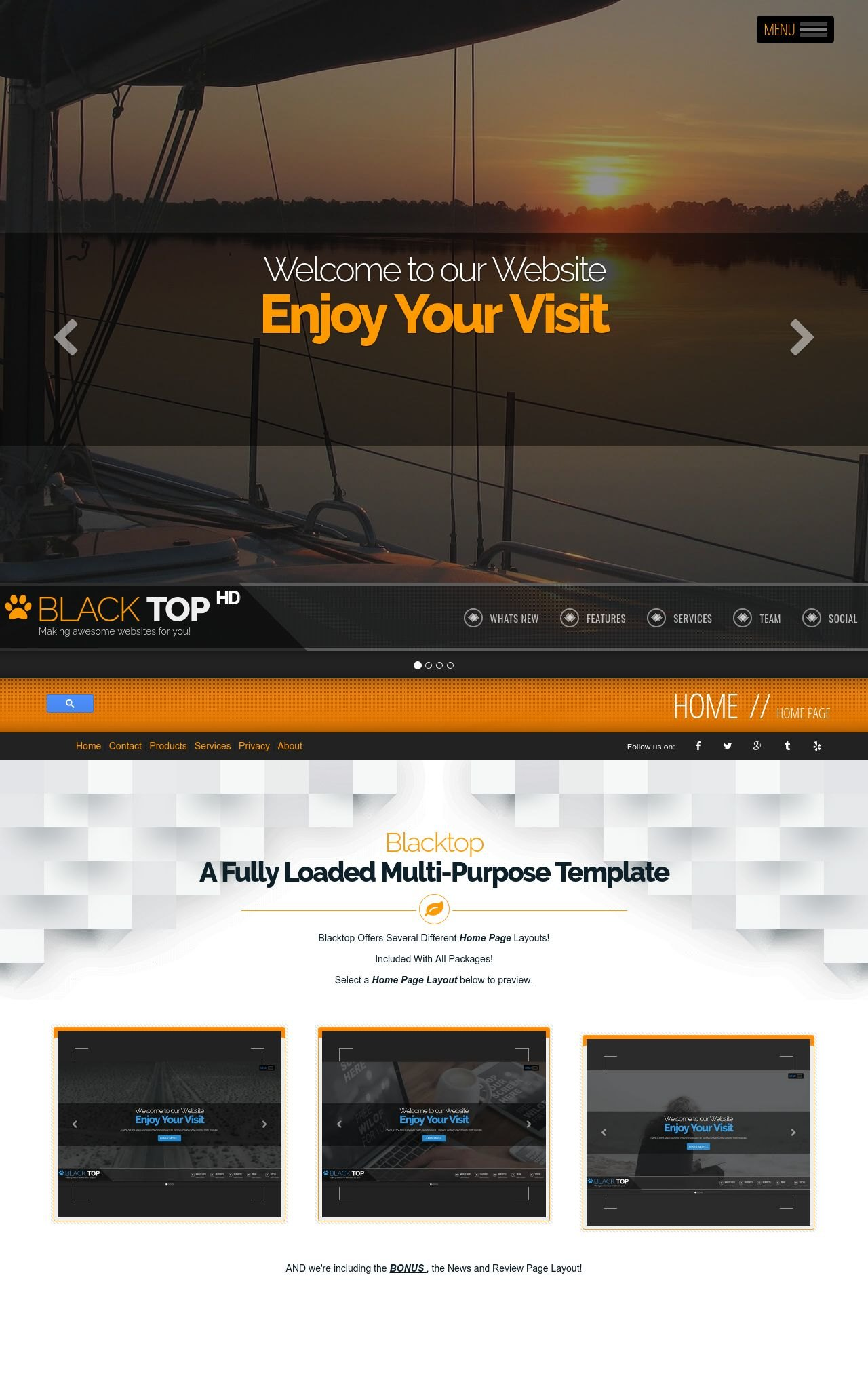 Sailing Web Templates
