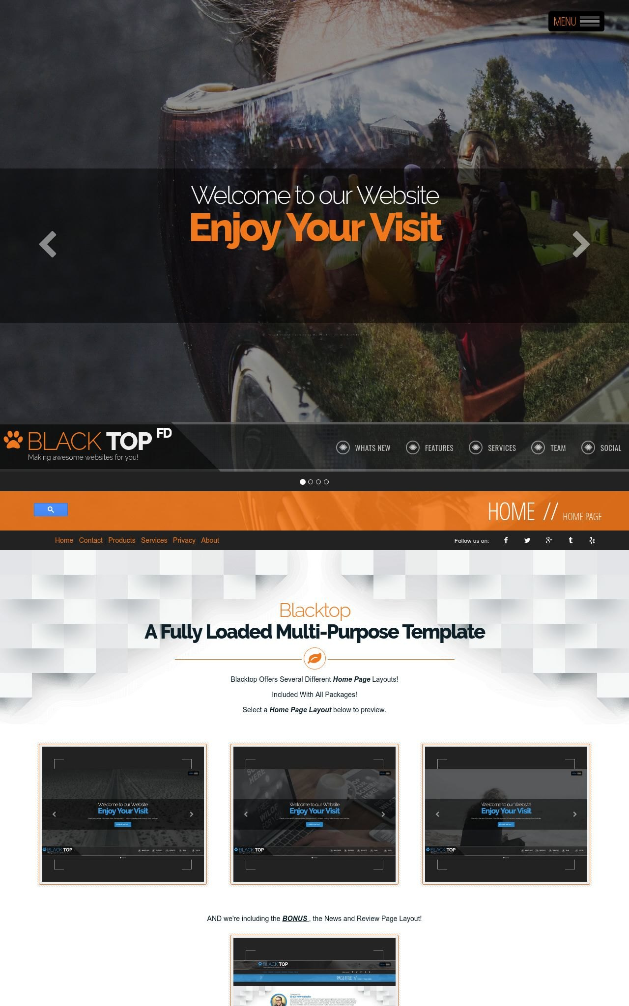 Desktop: Paintball Web Template