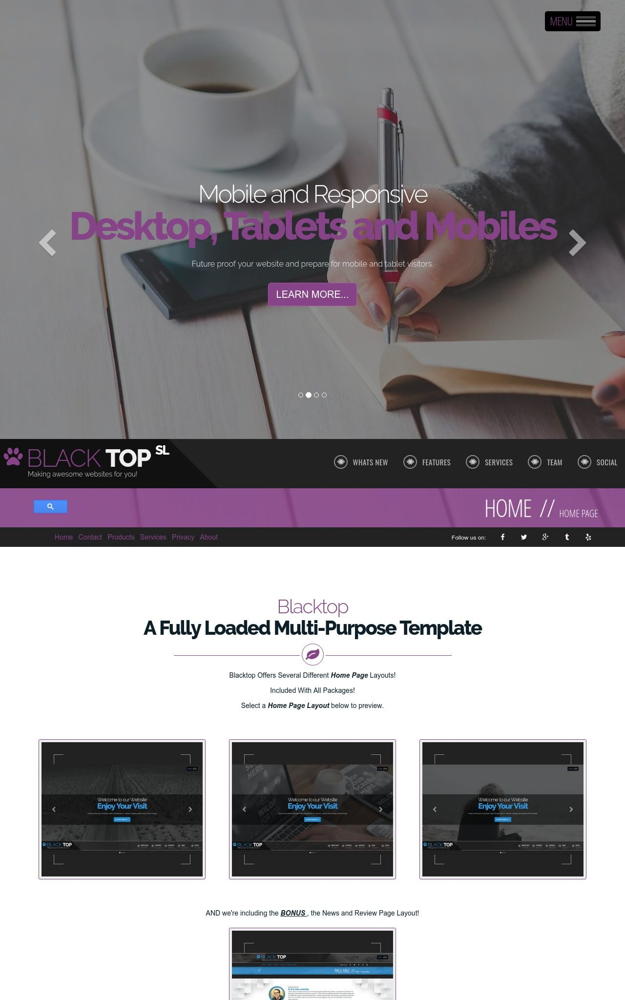 Blacktop sl business purplewhite business dreamweaver template styled text logo friedricerecipe Image collections