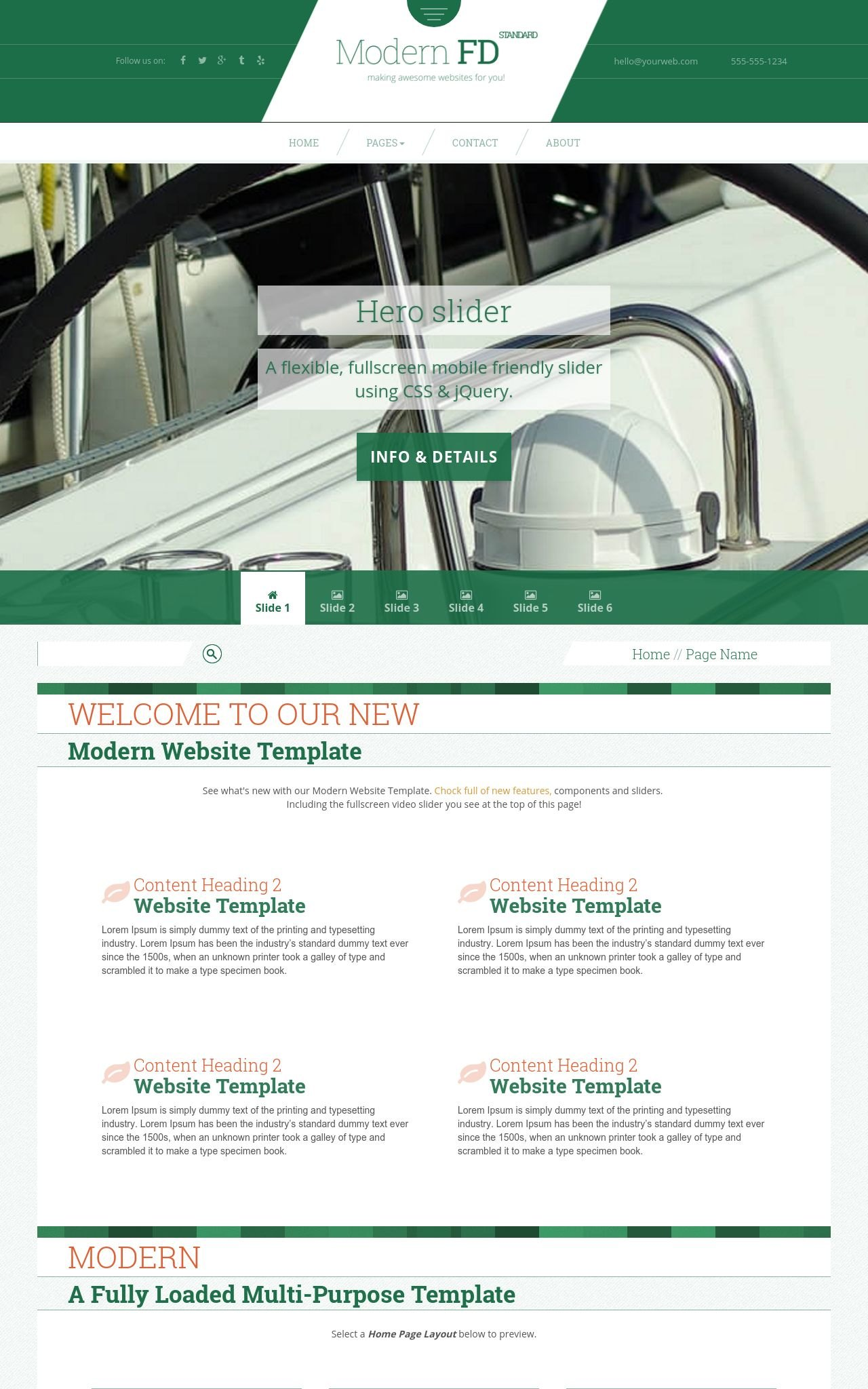 Modern fd boating greenwhite3 boating web template styled text logo maxwellsz