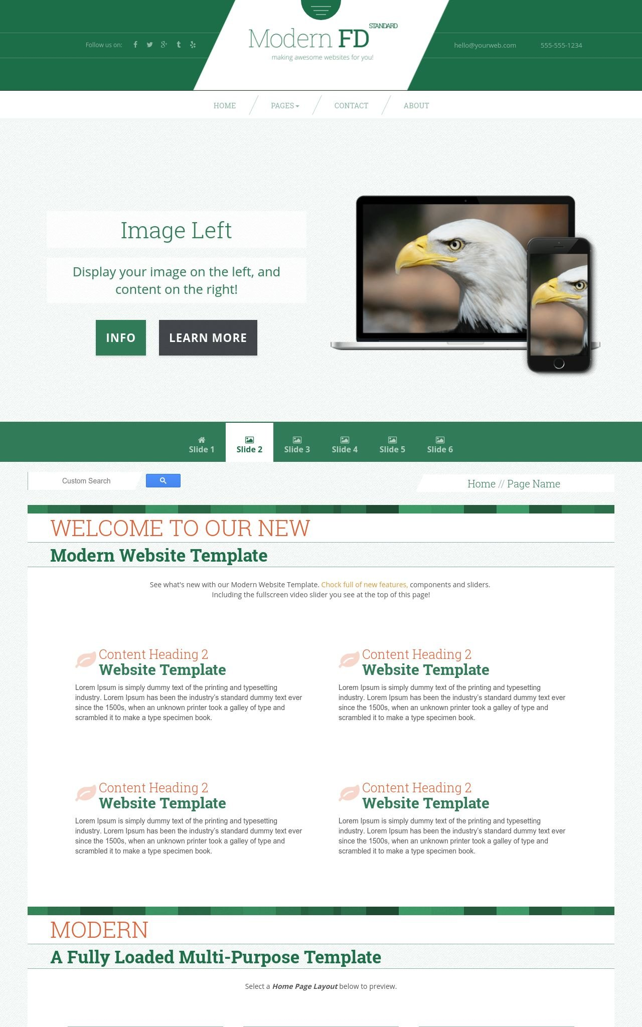 Patriotic Web Templates
