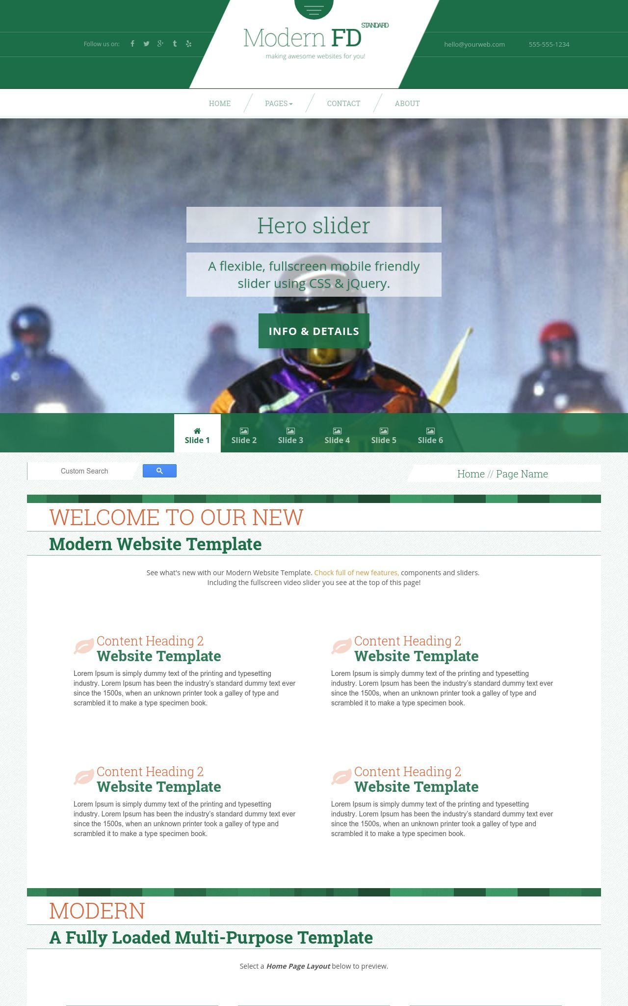 Snowmobile Web Templates